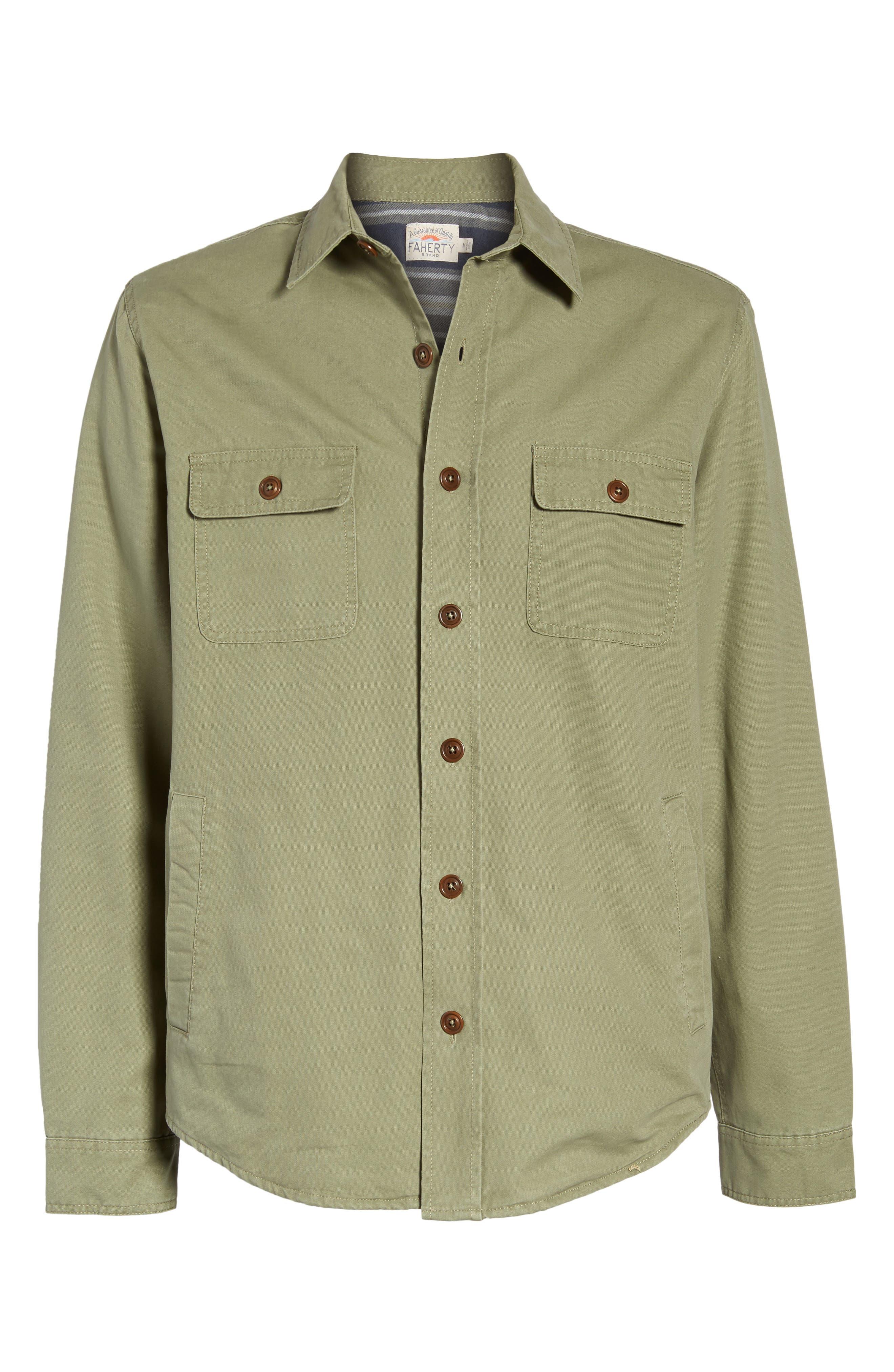 Alternate Image 6  - Faherty Blanket Lined Shirt Jacket
