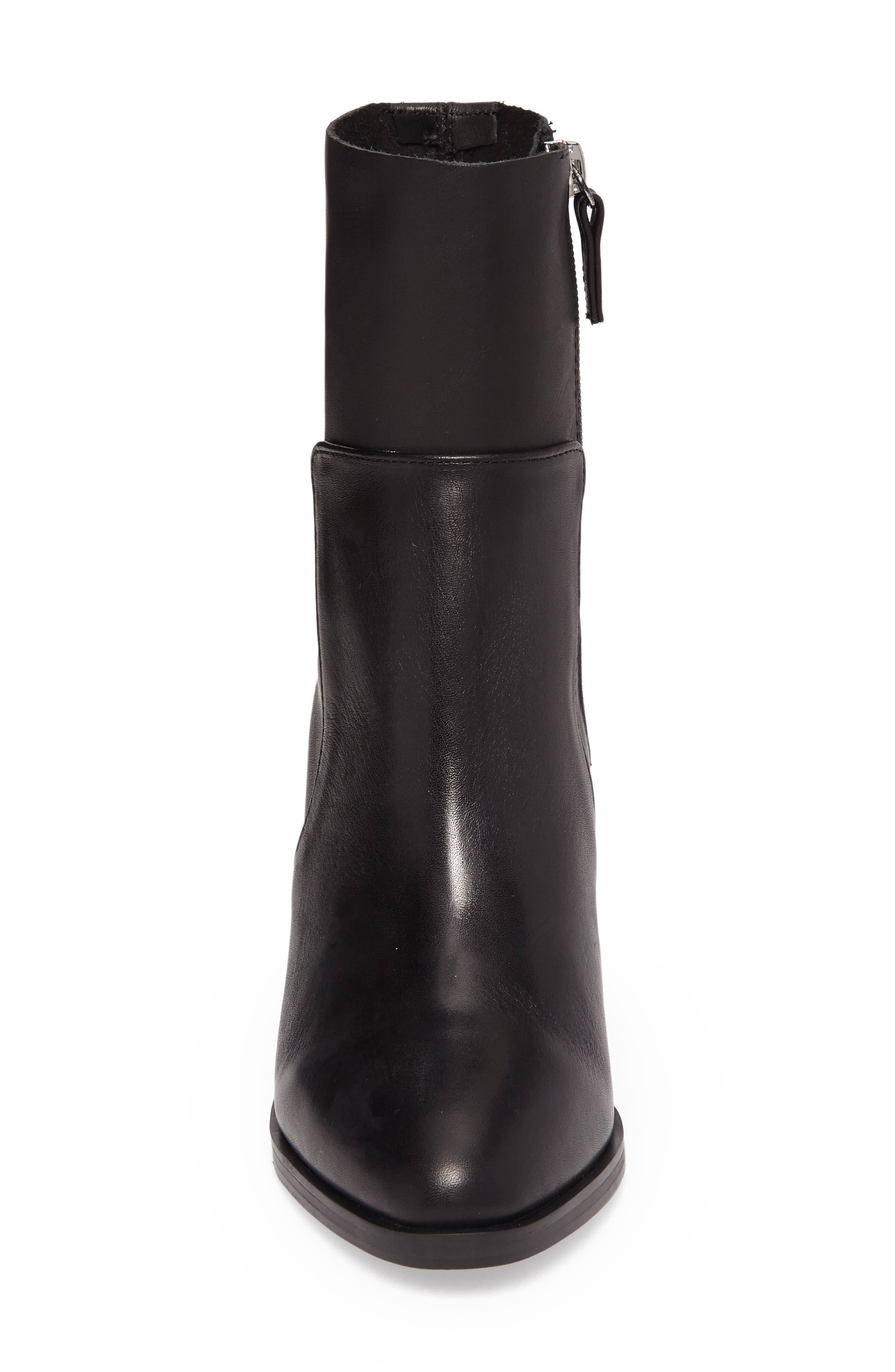 Rewind Bootie,                             Alternate thumbnail 4, color,                             Black Leather