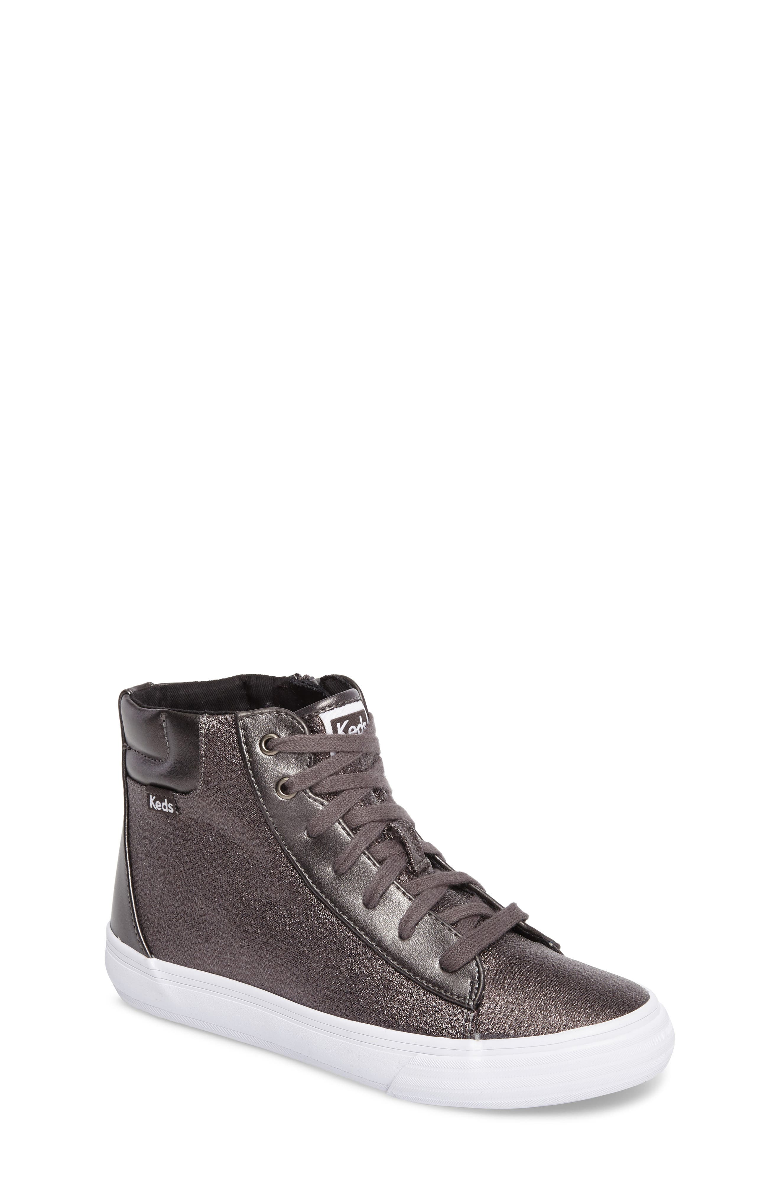 Double Up High Top Sneaker,                             Main thumbnail 1, color,                             Pewter