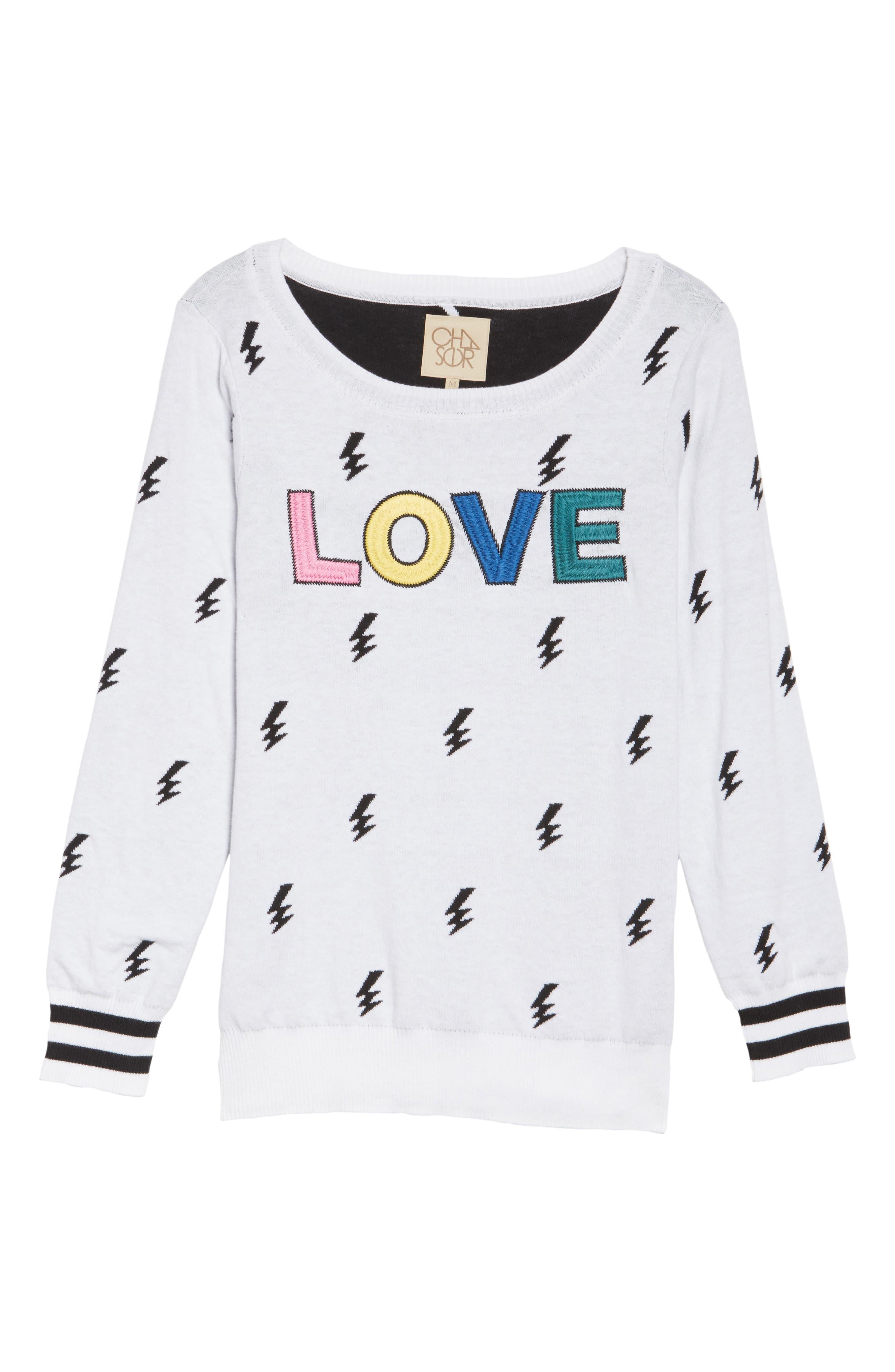 Alternate Image 4  - Chaser Lightning Intarsia Sweater