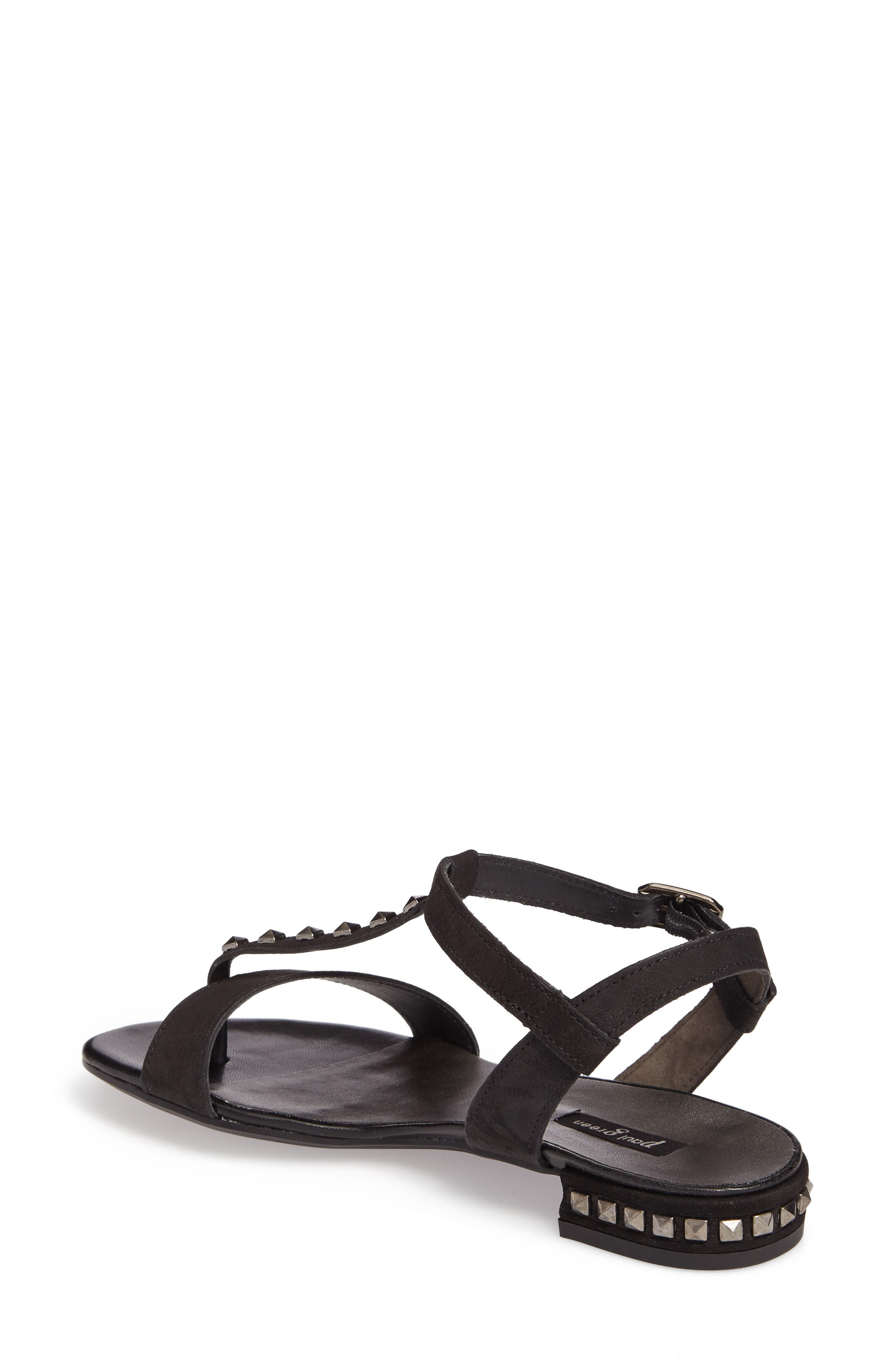 Nepal T-Strap Sandal,                             Alternate thumbnail 2, color,                             Black Nubuck