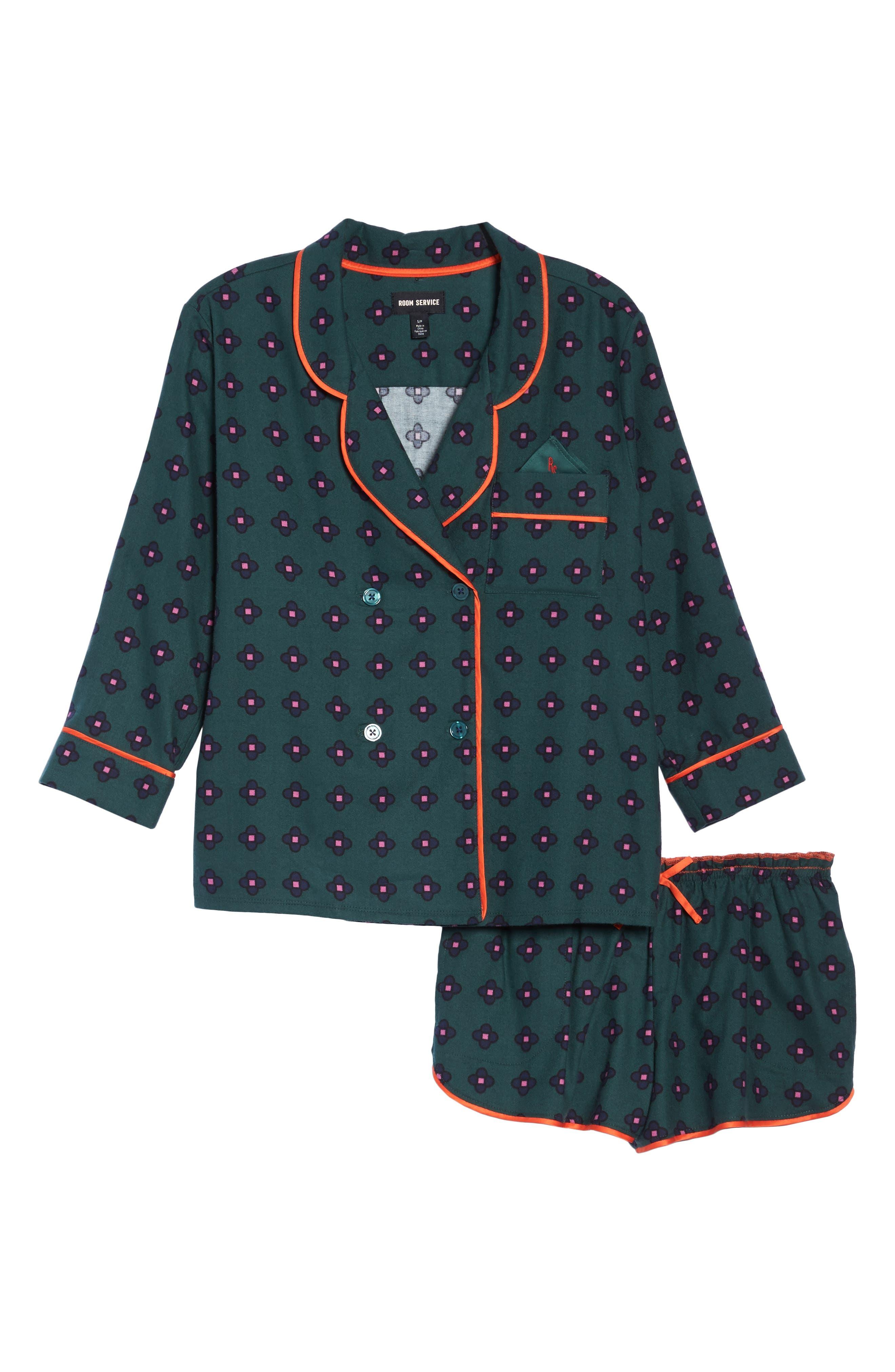 Alternate Image 6  - Room Service Shorty Flannel Pajamas