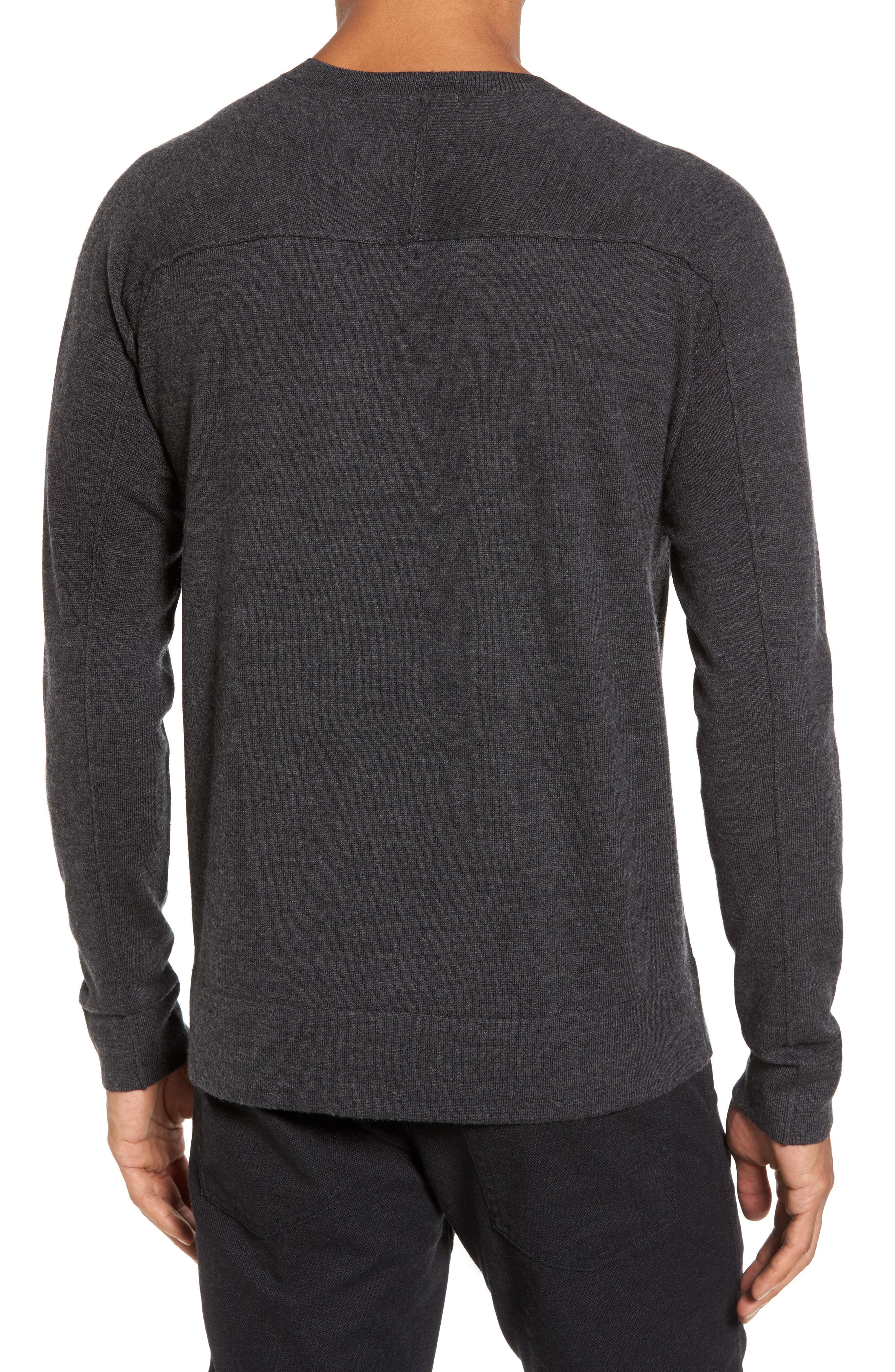 Superlight Slim Modern Wool Sweater,                             Alternate thumbnail 2, color,                             Charcoal