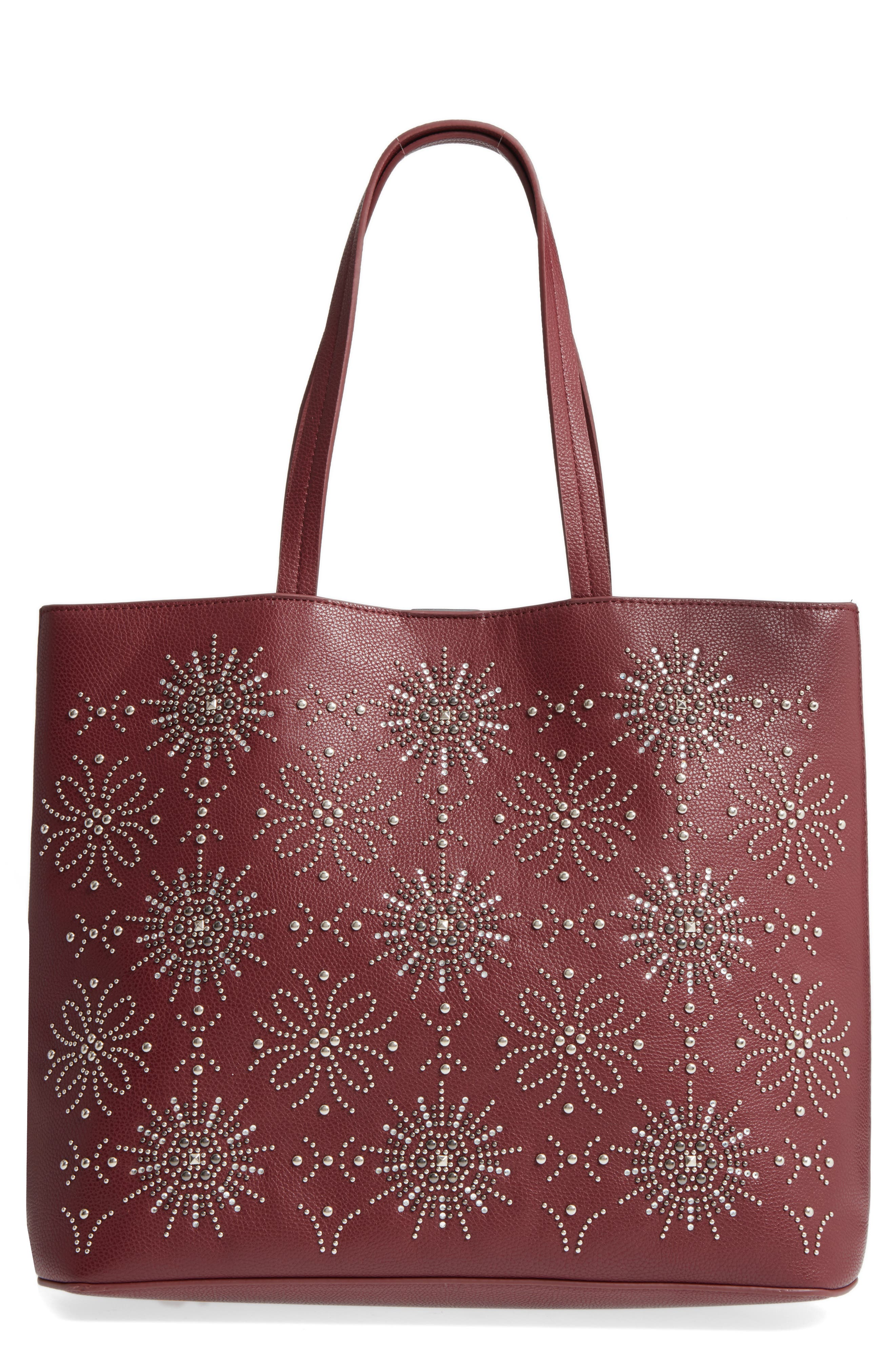 Alternate Image 1 Selected - Chelsea28 Starburst Faux Leather Tote & Zip Pouch