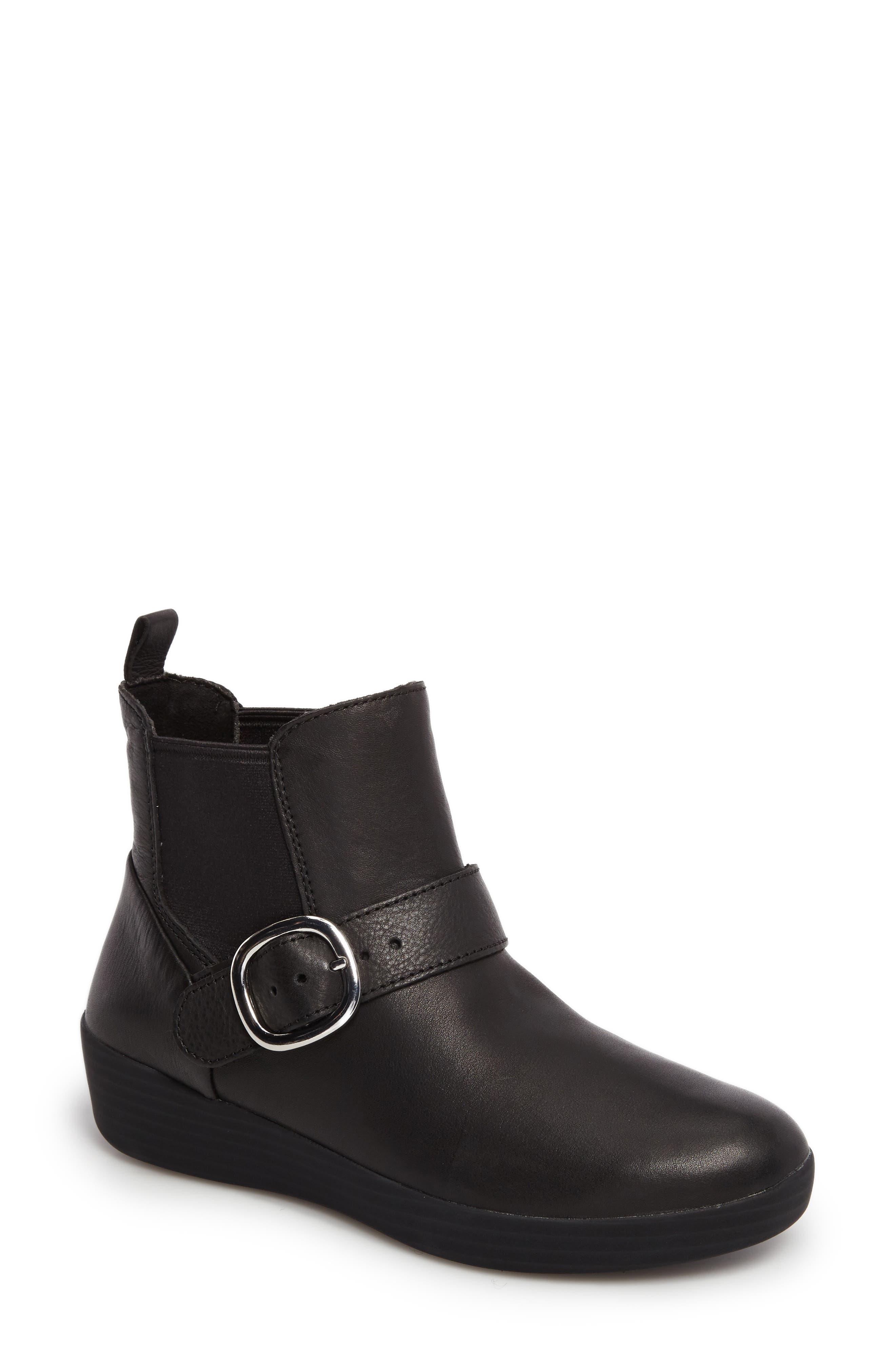 Superbuckle Chelsea Boot,                             Main thumbnail 1, color,                             Black