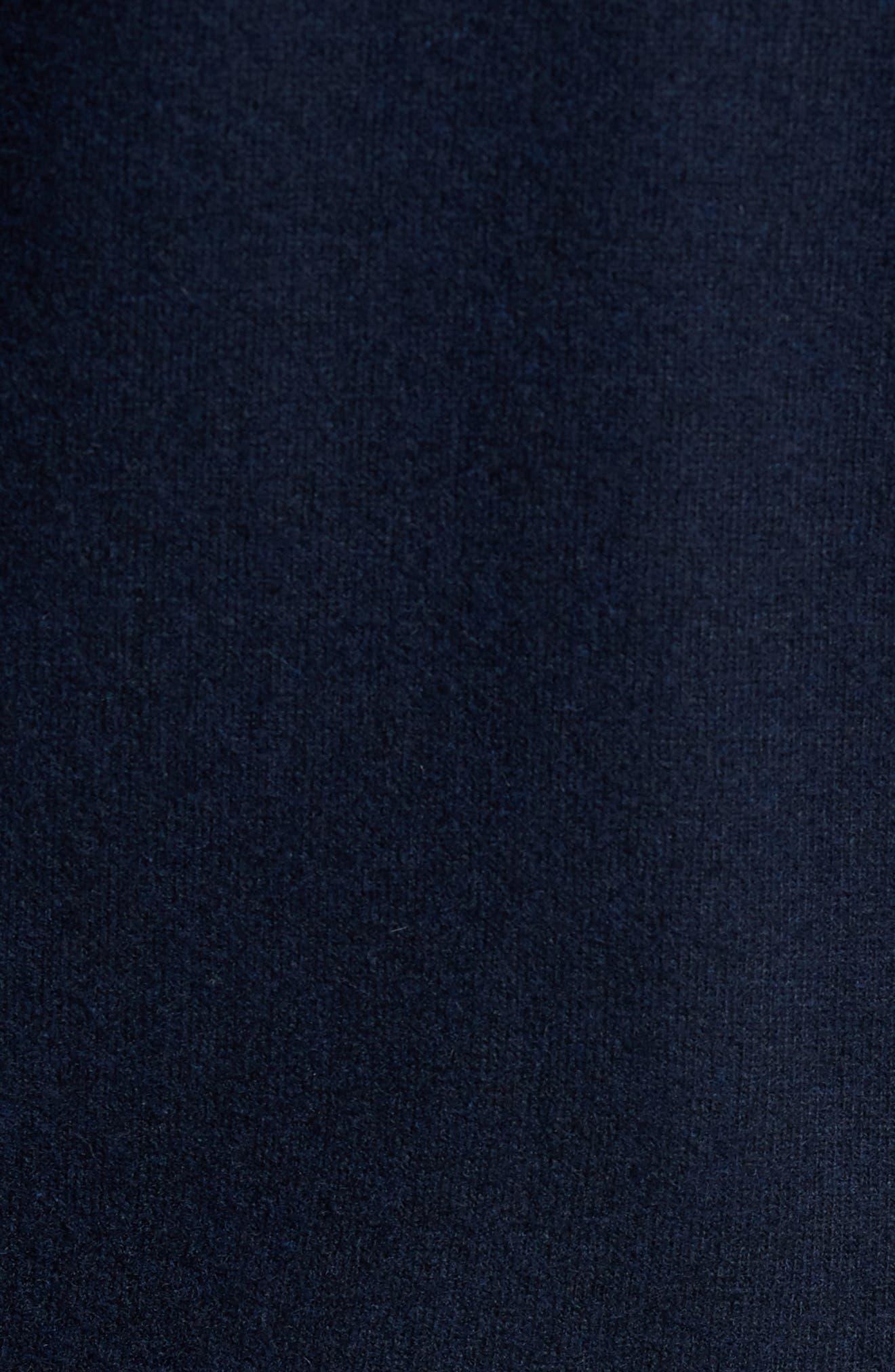 Wool Blend Hooded Cardigan,                             Alternate thumbnail 5, color,                             Navy Iris