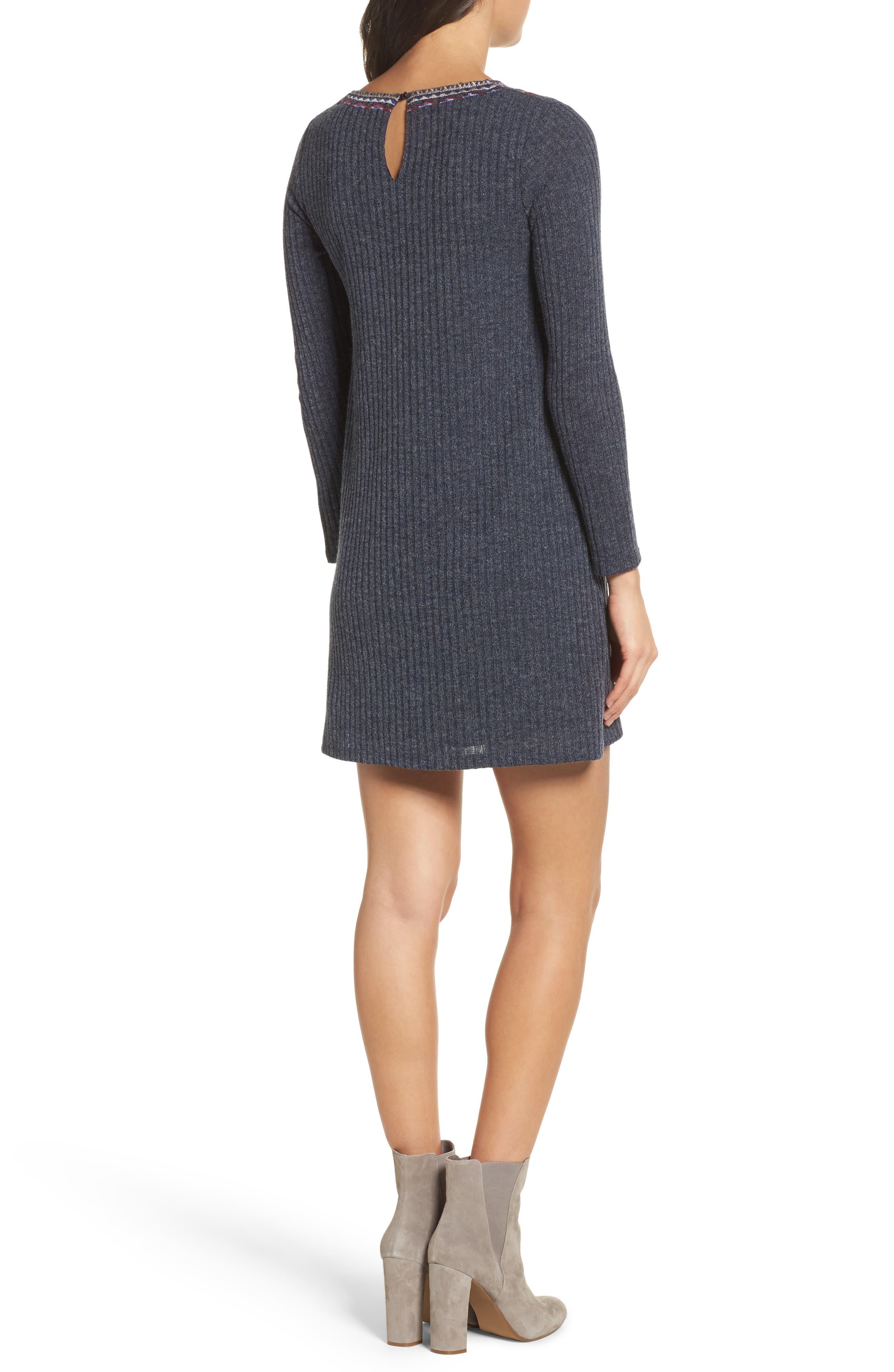 Alternate Image 2  - THML Knit Shift Dress