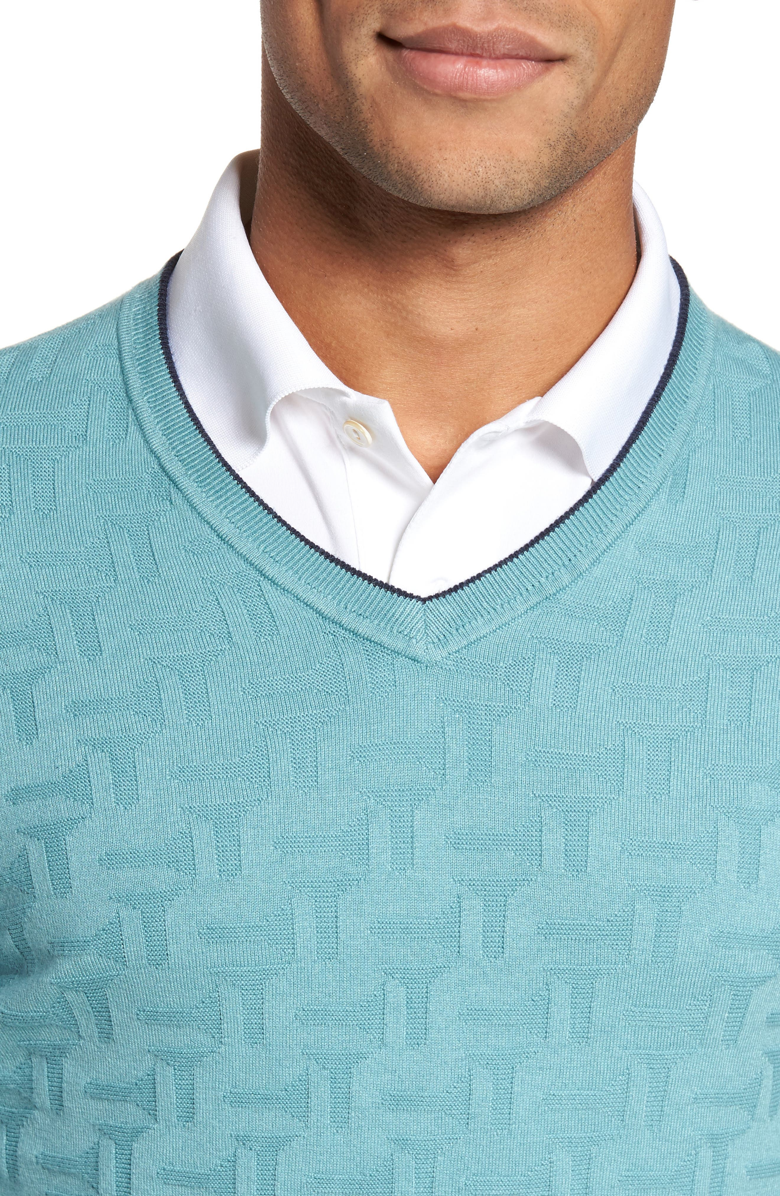 Alternate Image 4  - Ted Baker London Armstro Tipped Golf Tee Sweater
