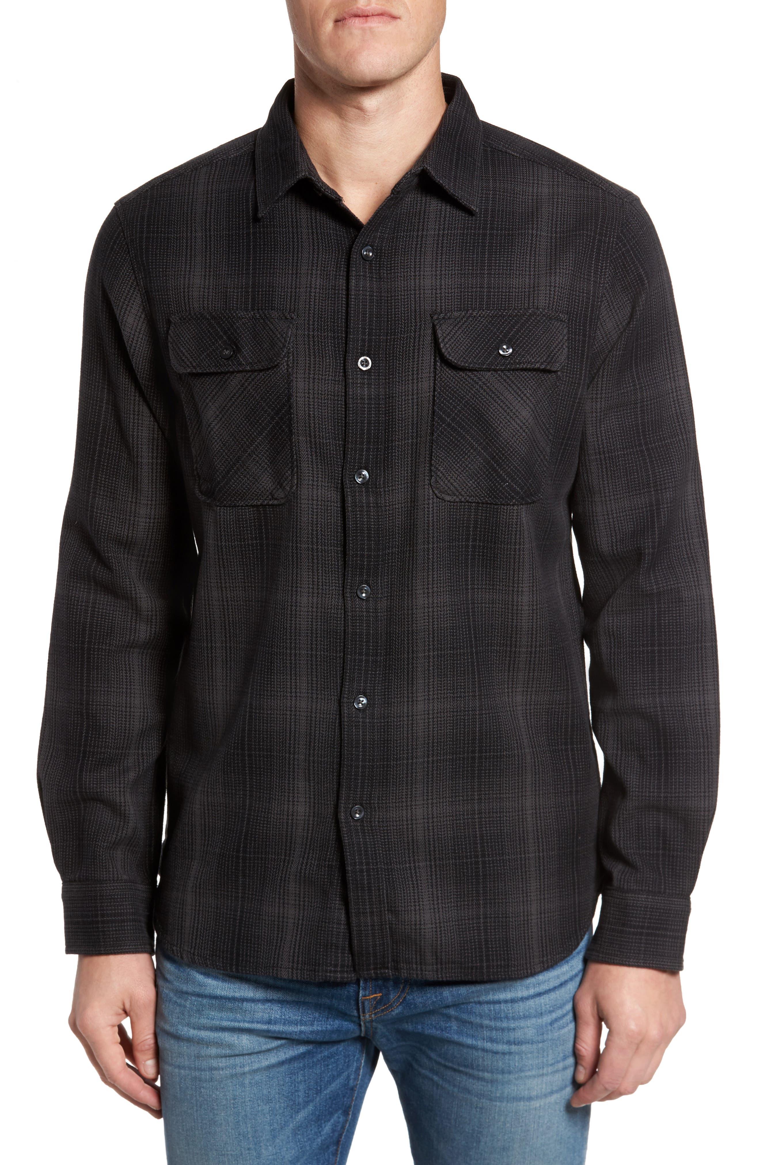 Alpine Zone Plaid Shirt,                         Main,                         color, Asphalt Grey Plaid