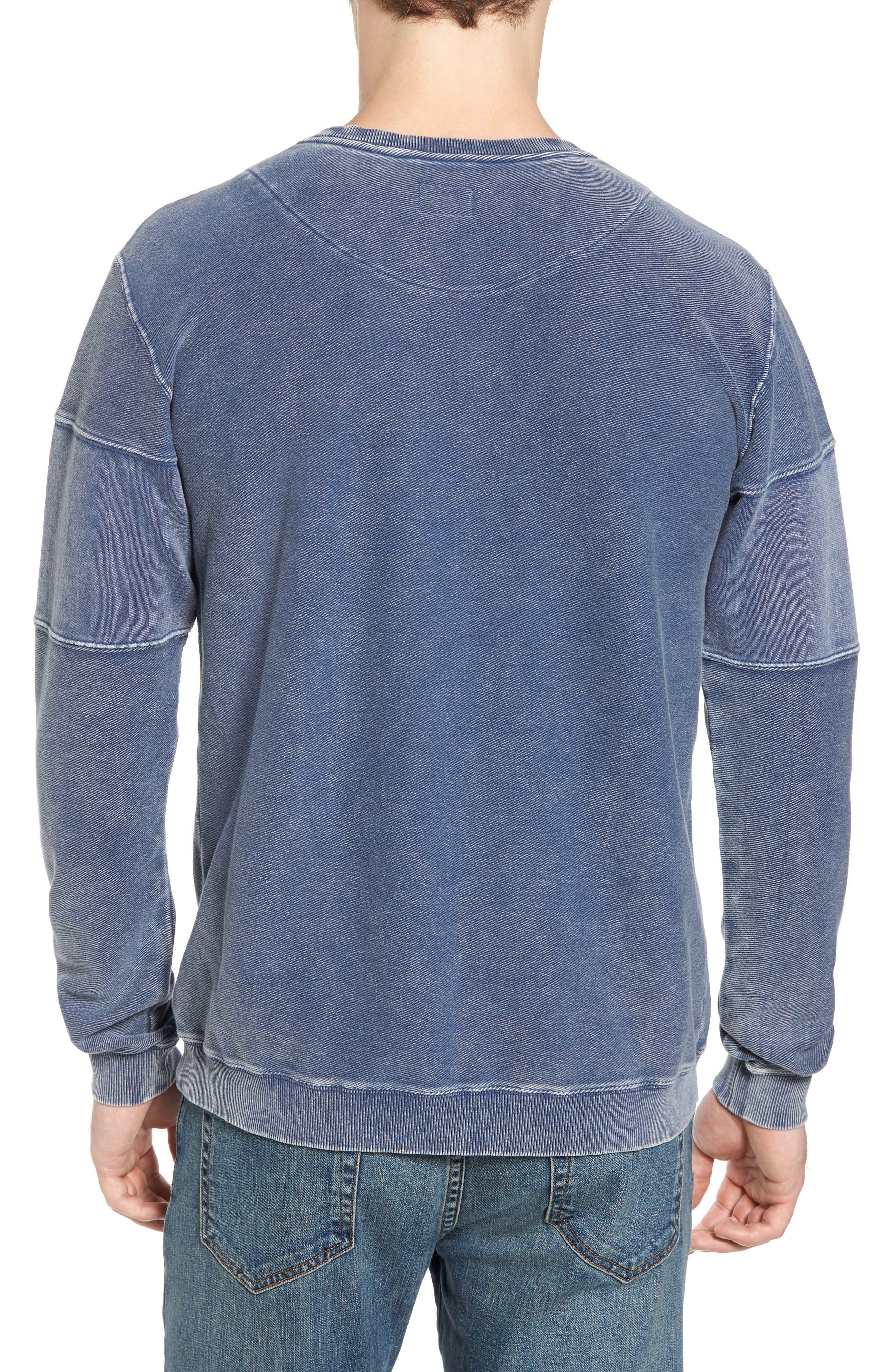 Alternate Image 2  - RVCA Distressed Sweatshirt