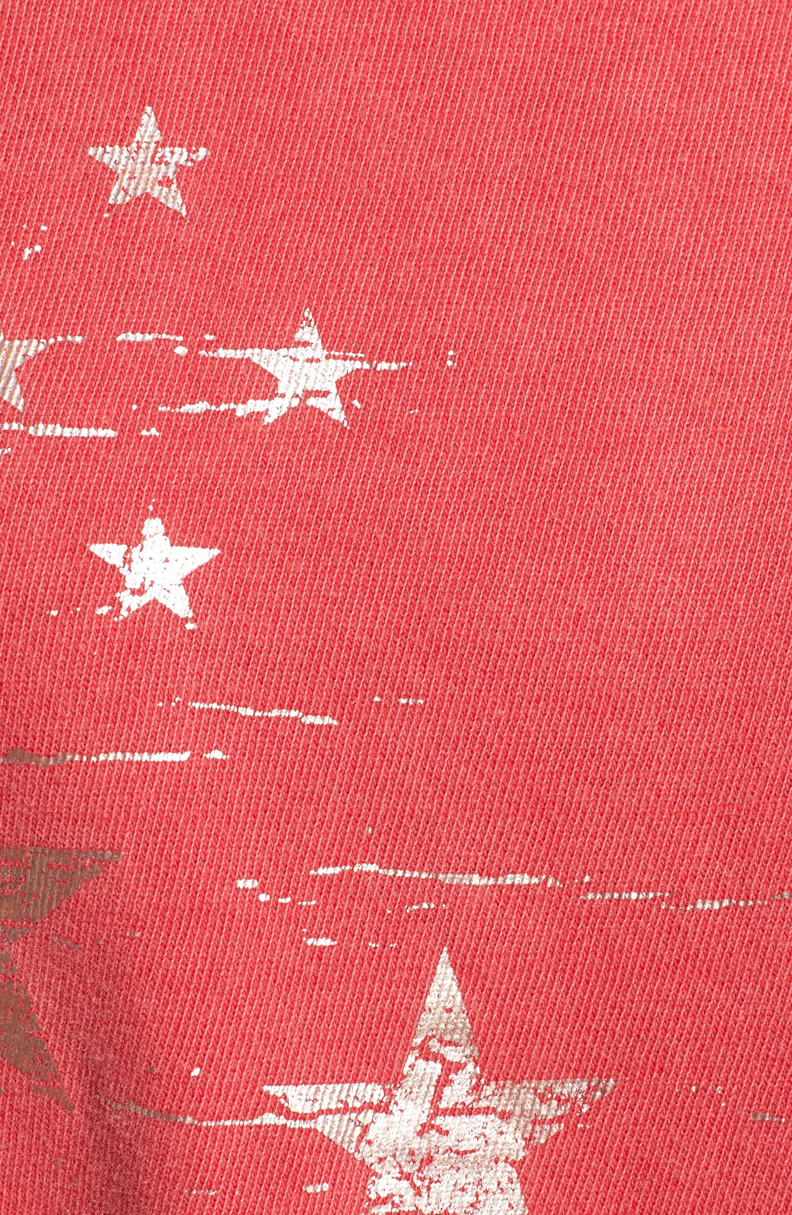 Foil Star Sweatshirt,                             Alternate thumbnail 6, color,                             Scarlet