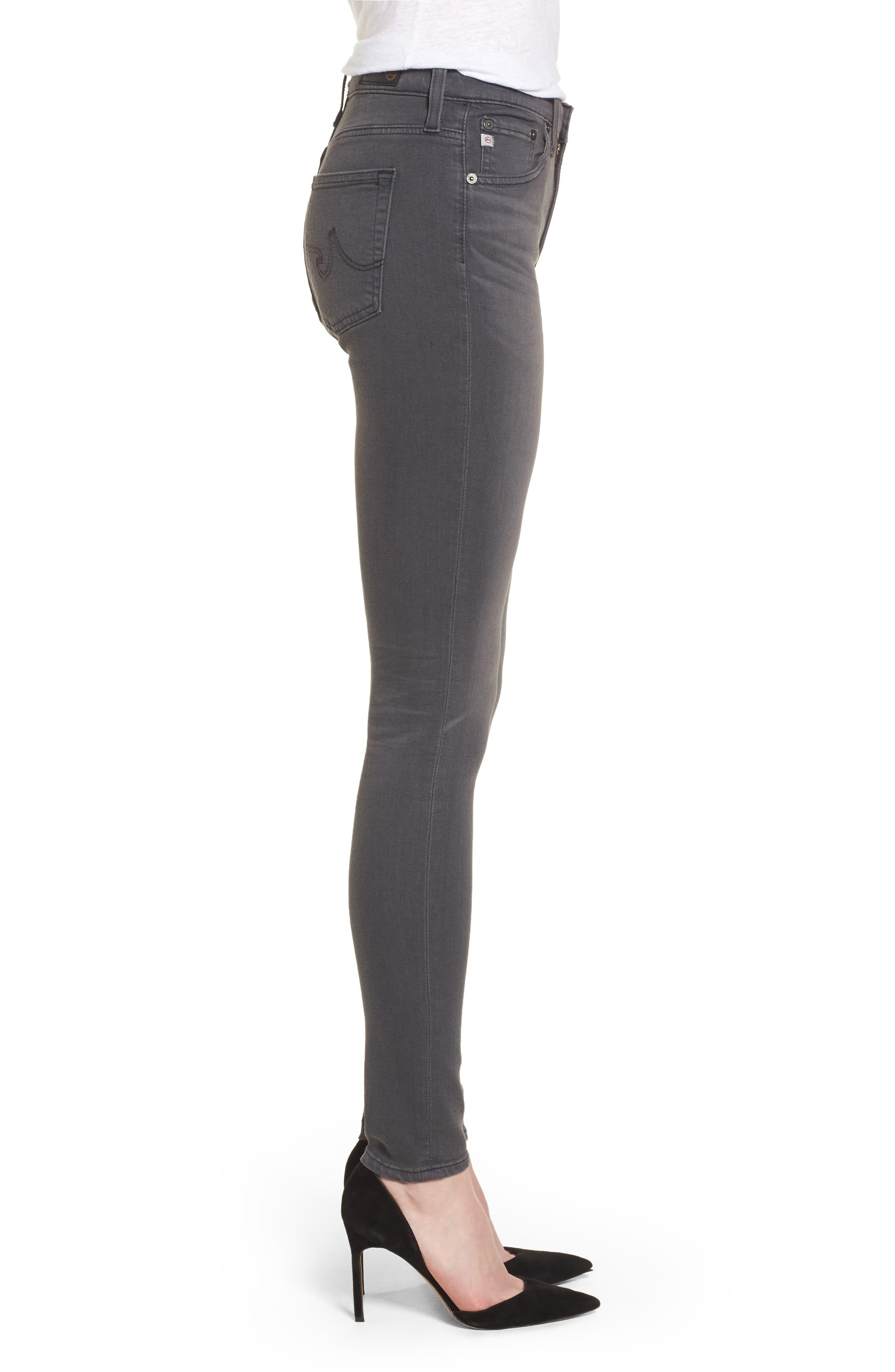 Alternate Image 3  - AG Farrah High WaistSkinny Jeans (4 Years Earl Grey)