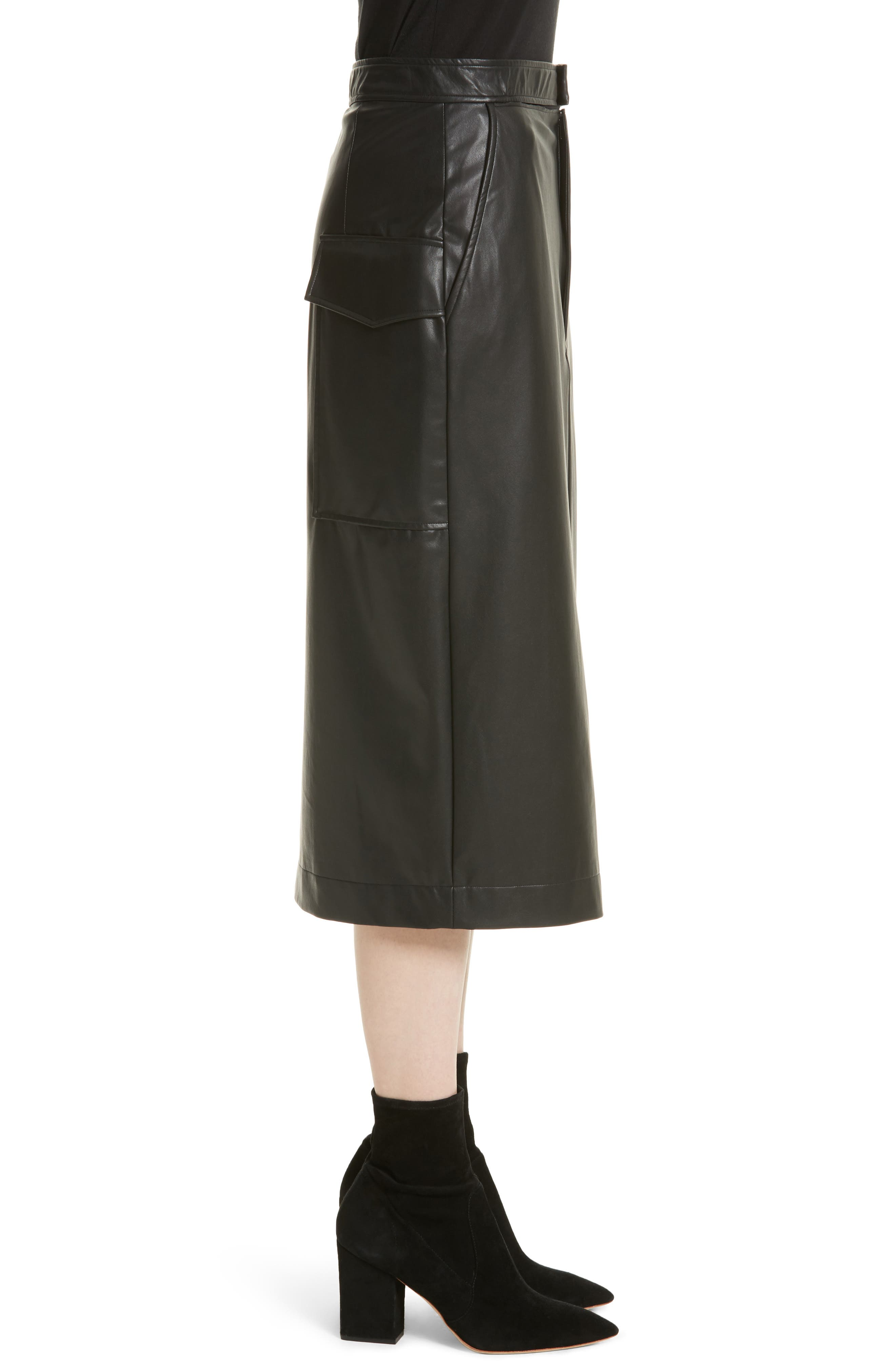 Keller Feather Sky Skirt,                             Alternate thumbnail 3, color,                             Black