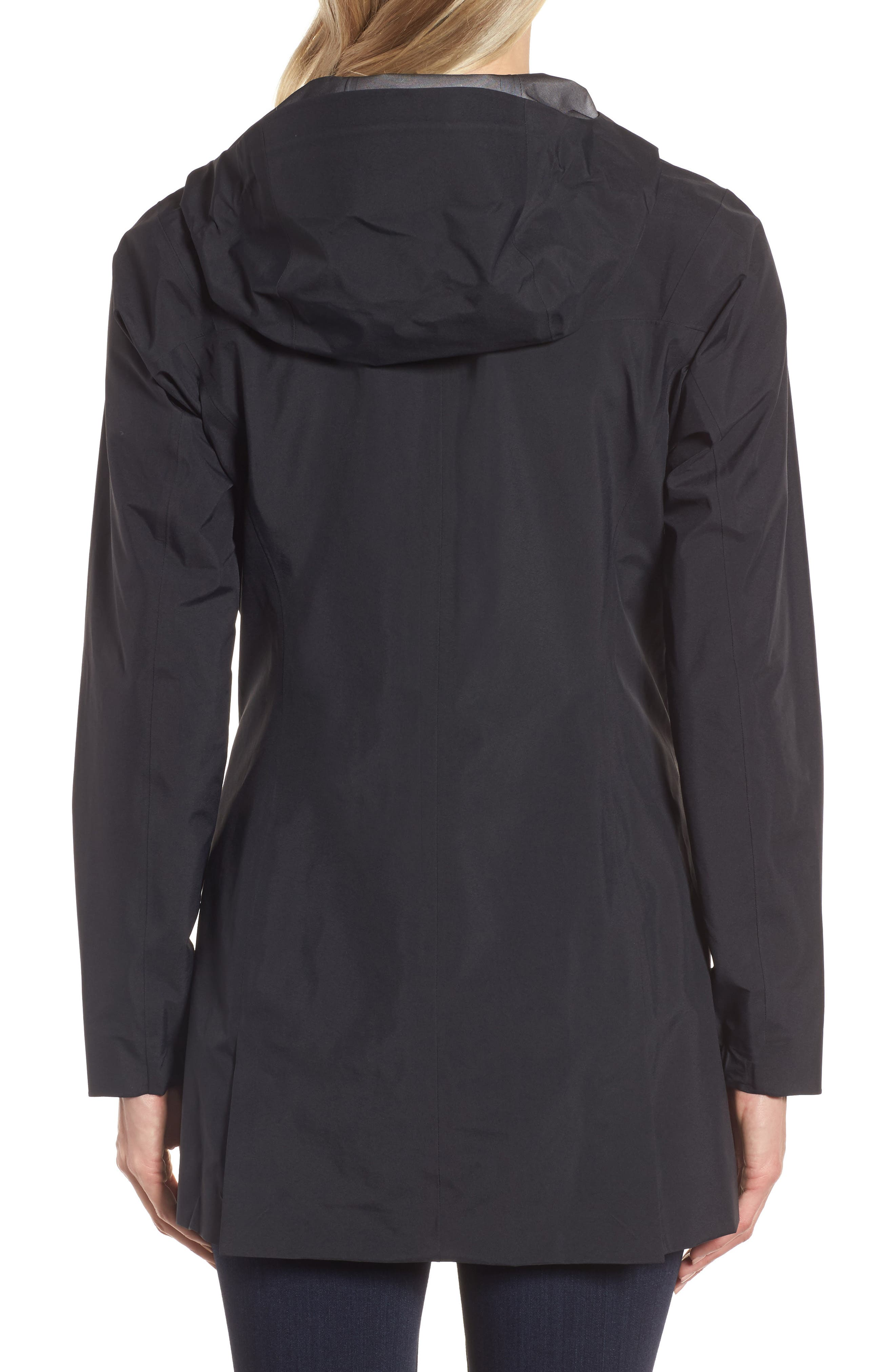 Codetta Waterproof Relaxed Fit Gore-Tex<sup>®</sup> 3L Rain Jacket,                             Alternate thumbnail 2, color,                             Black