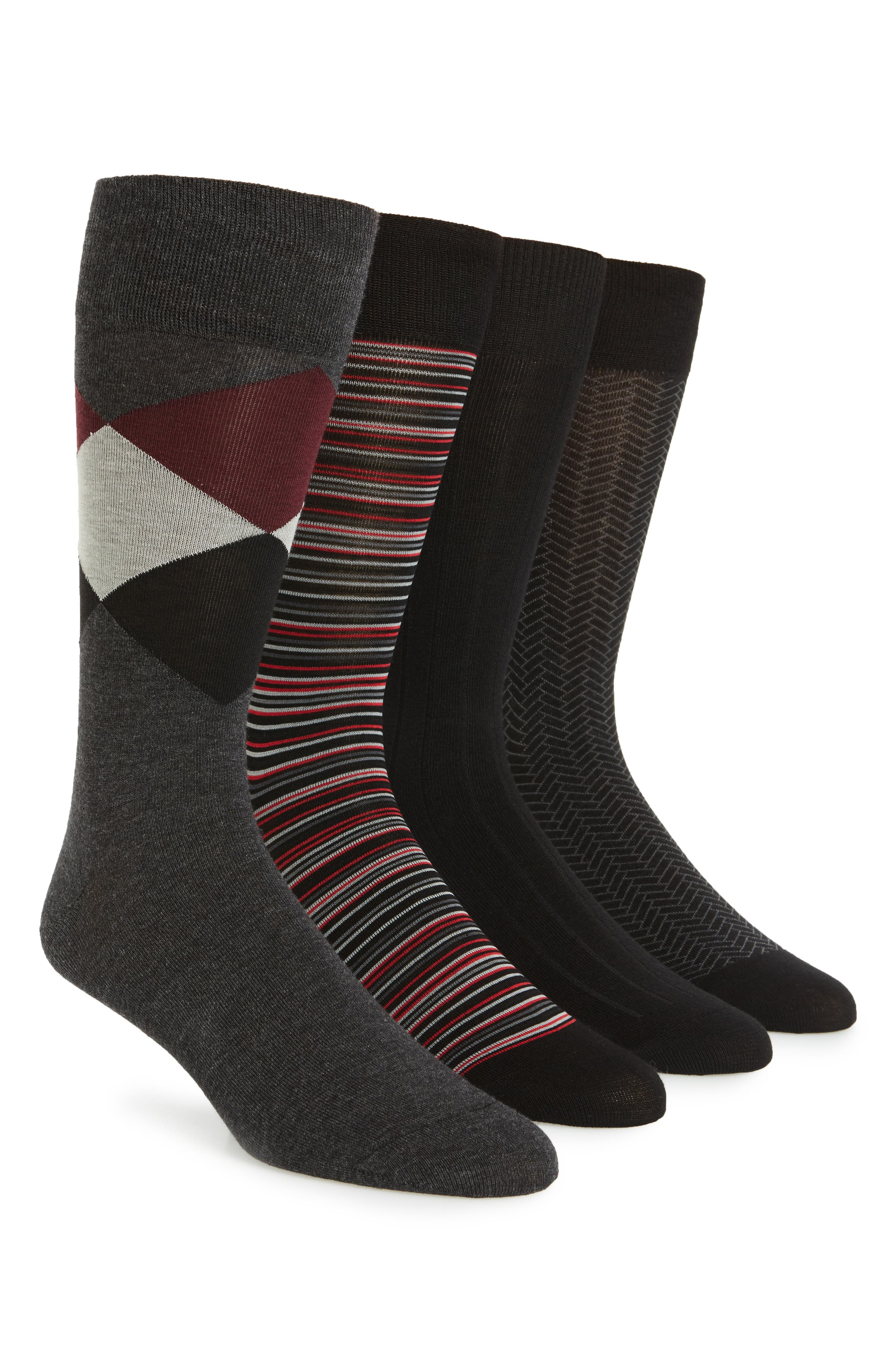 Cole Haan Assorted 4-Pack Crew Socks ($50 Value)