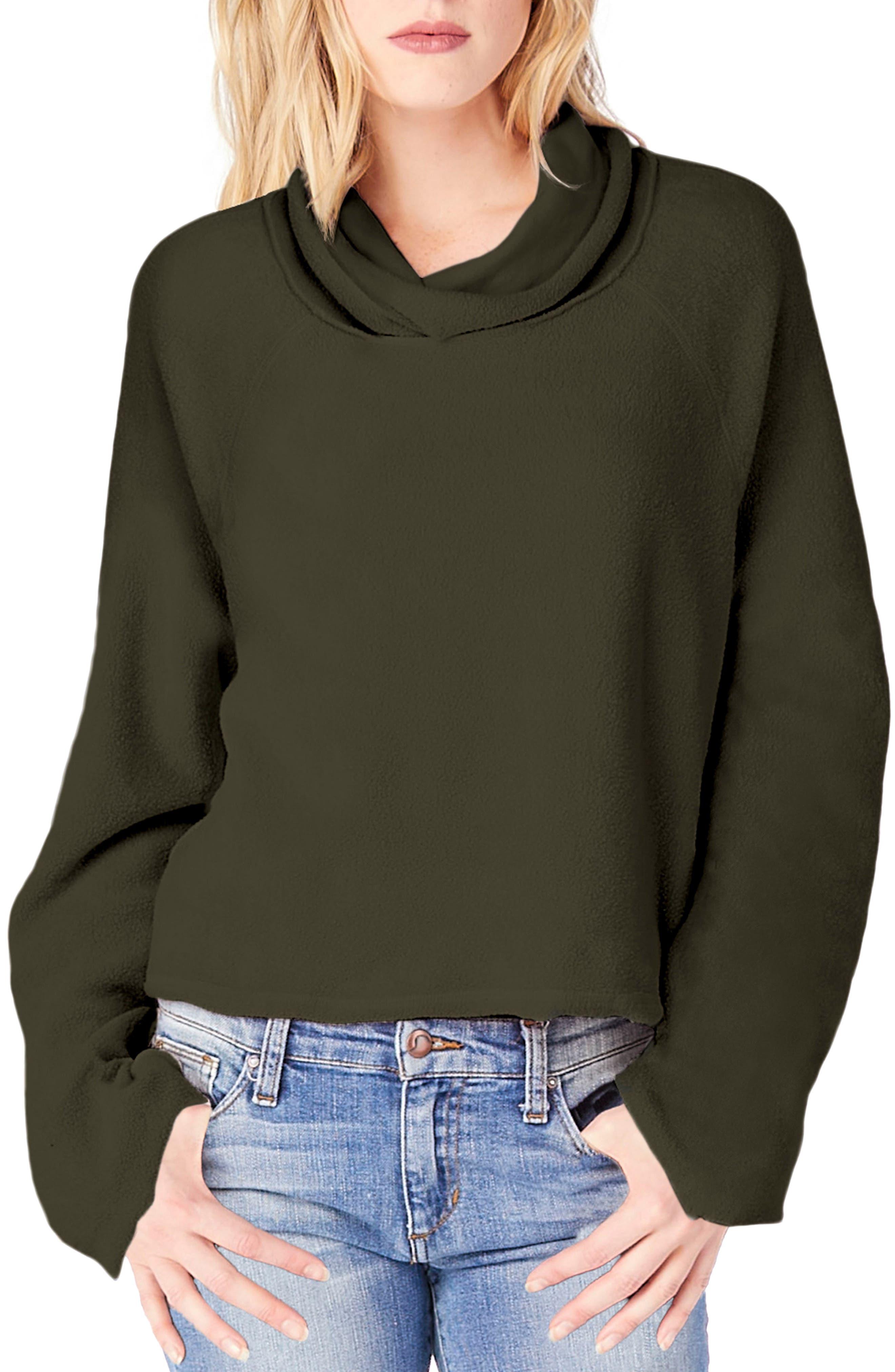 Michael Stars Reversible Raglan Sleeve Turtleneck Sweater