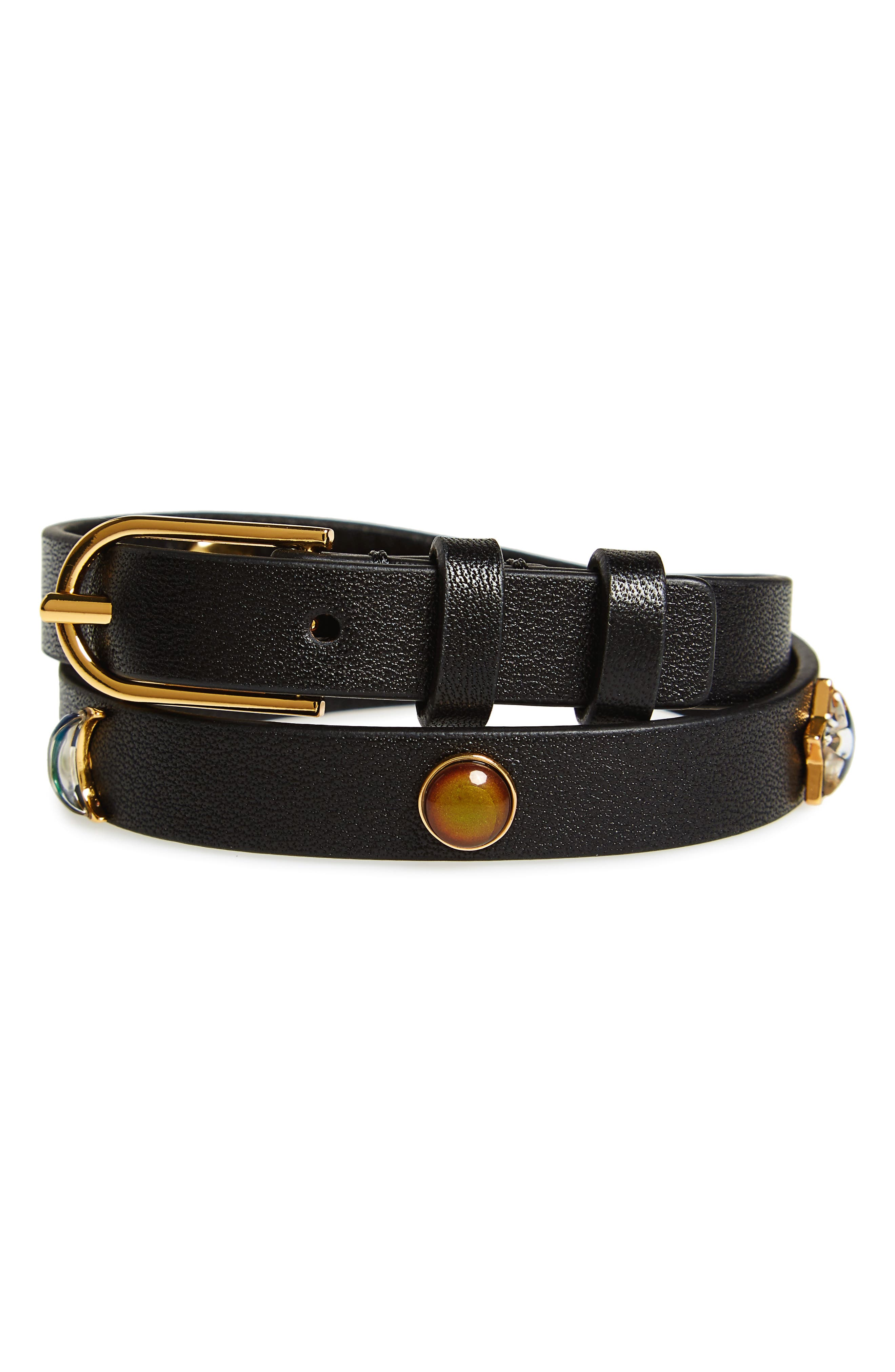 Tory Burch Moonstone Embellished Wrap Bracelet