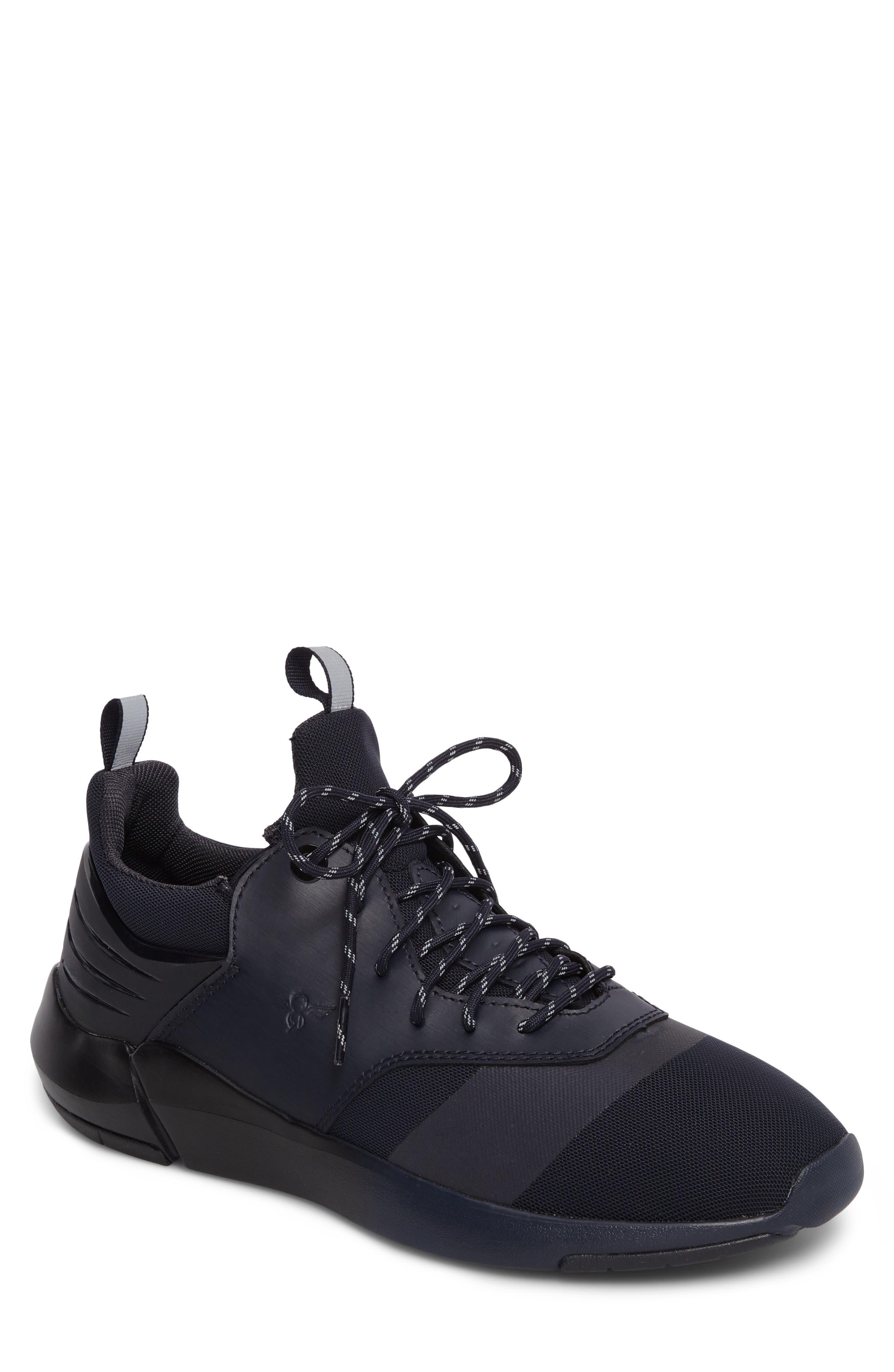 Motus Sneaker,                             Main thumbnail 1, color,                             Navy Reflective Leather