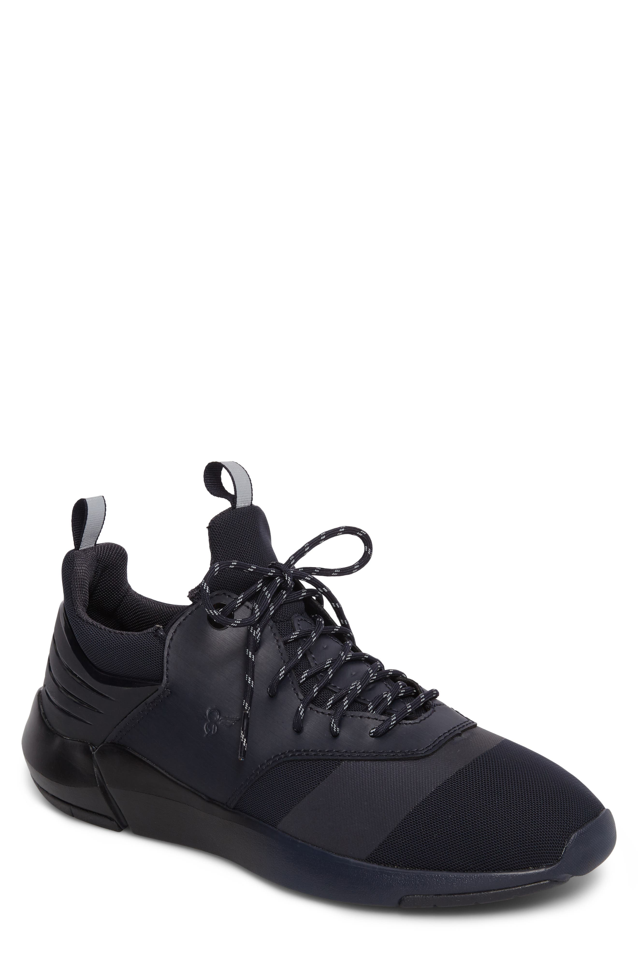 Motus Sneaker,                         Main,                         color, Navy Reflective Leather