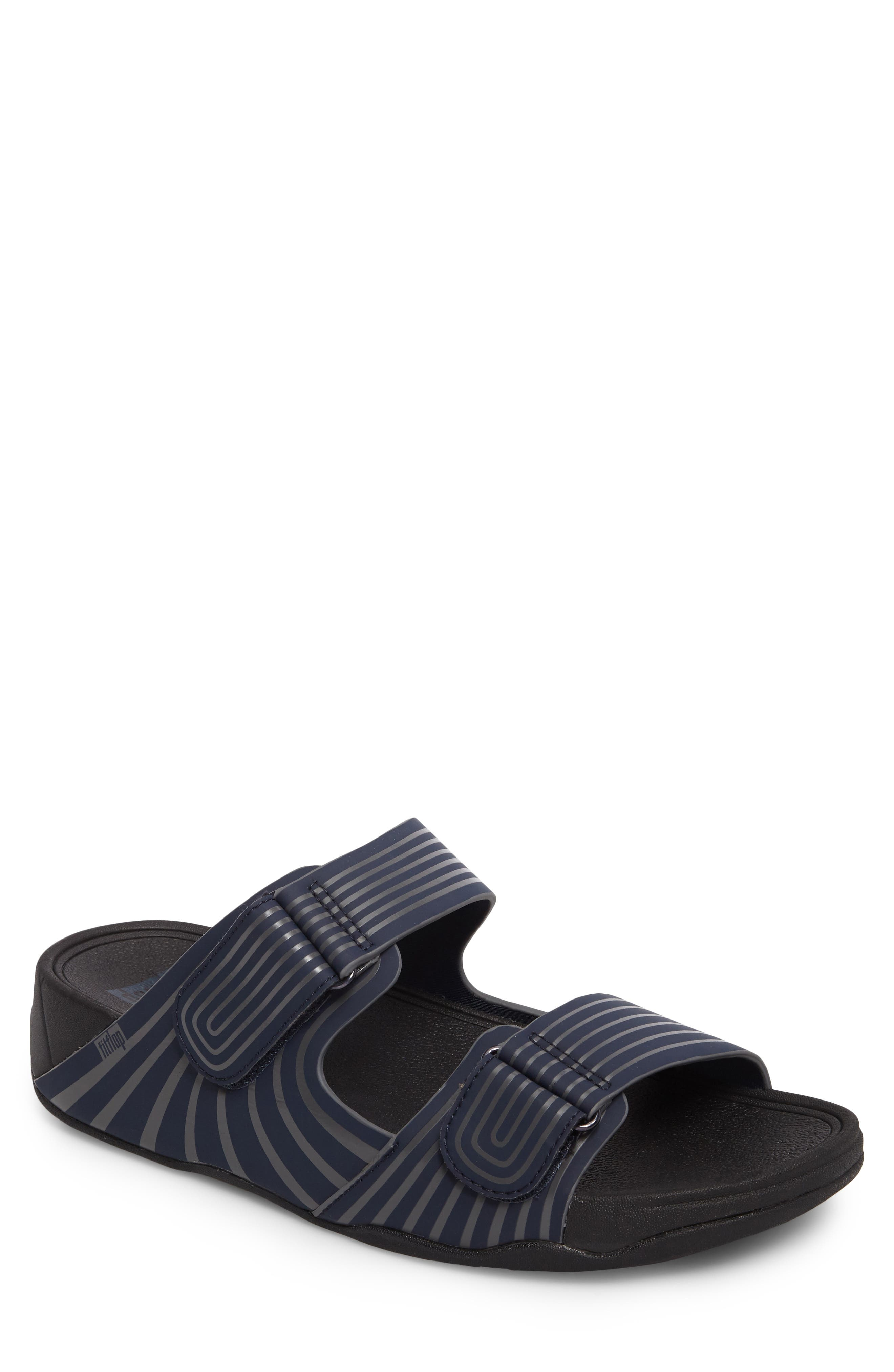 7dad09346f9f8 Fitflop Gogh Sport Slide Sandal In Midnight Navy Rubber