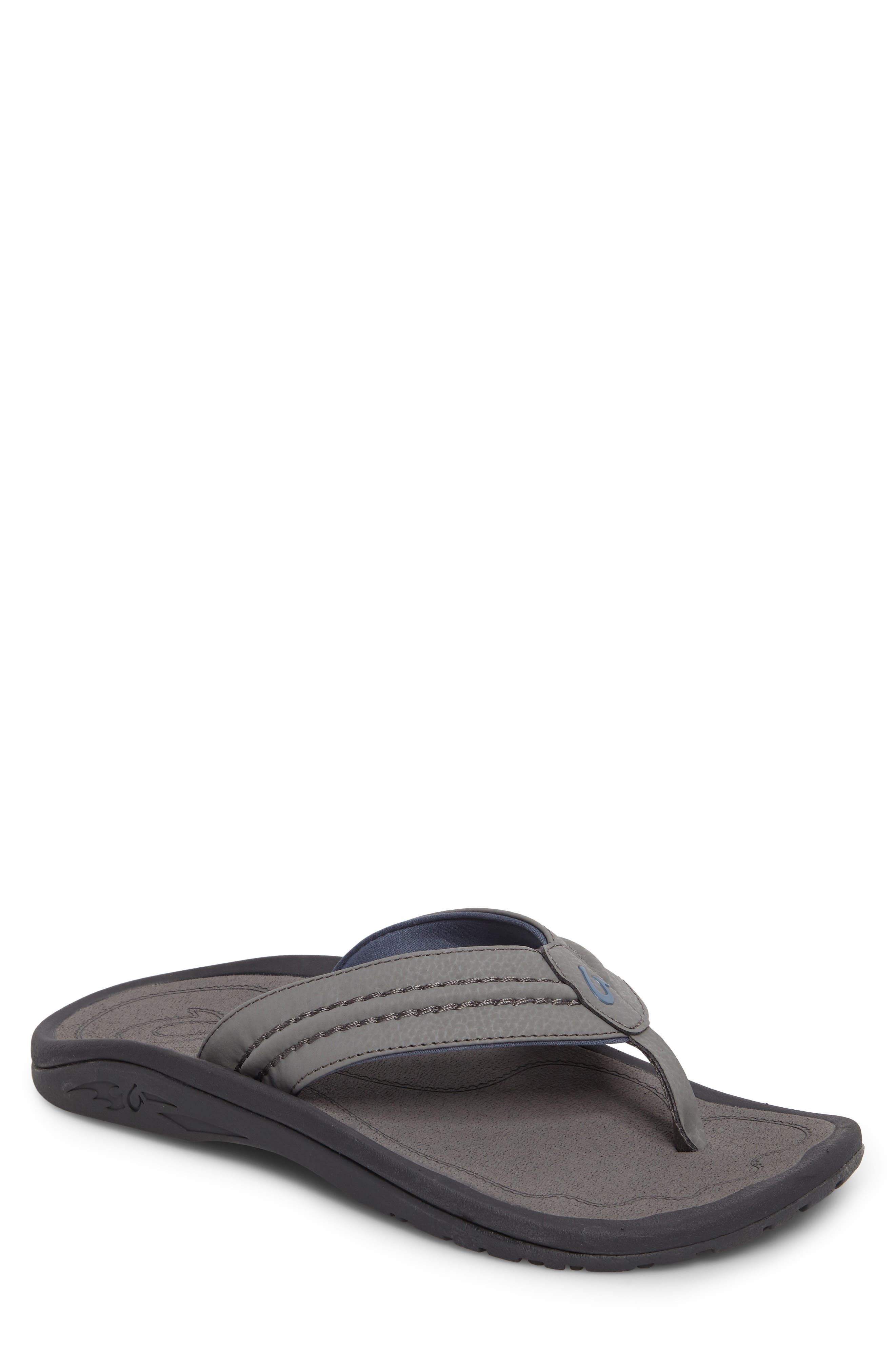 'Hokua' Flip Flop,                         Main,                         color, Charcoal/ Charcoal