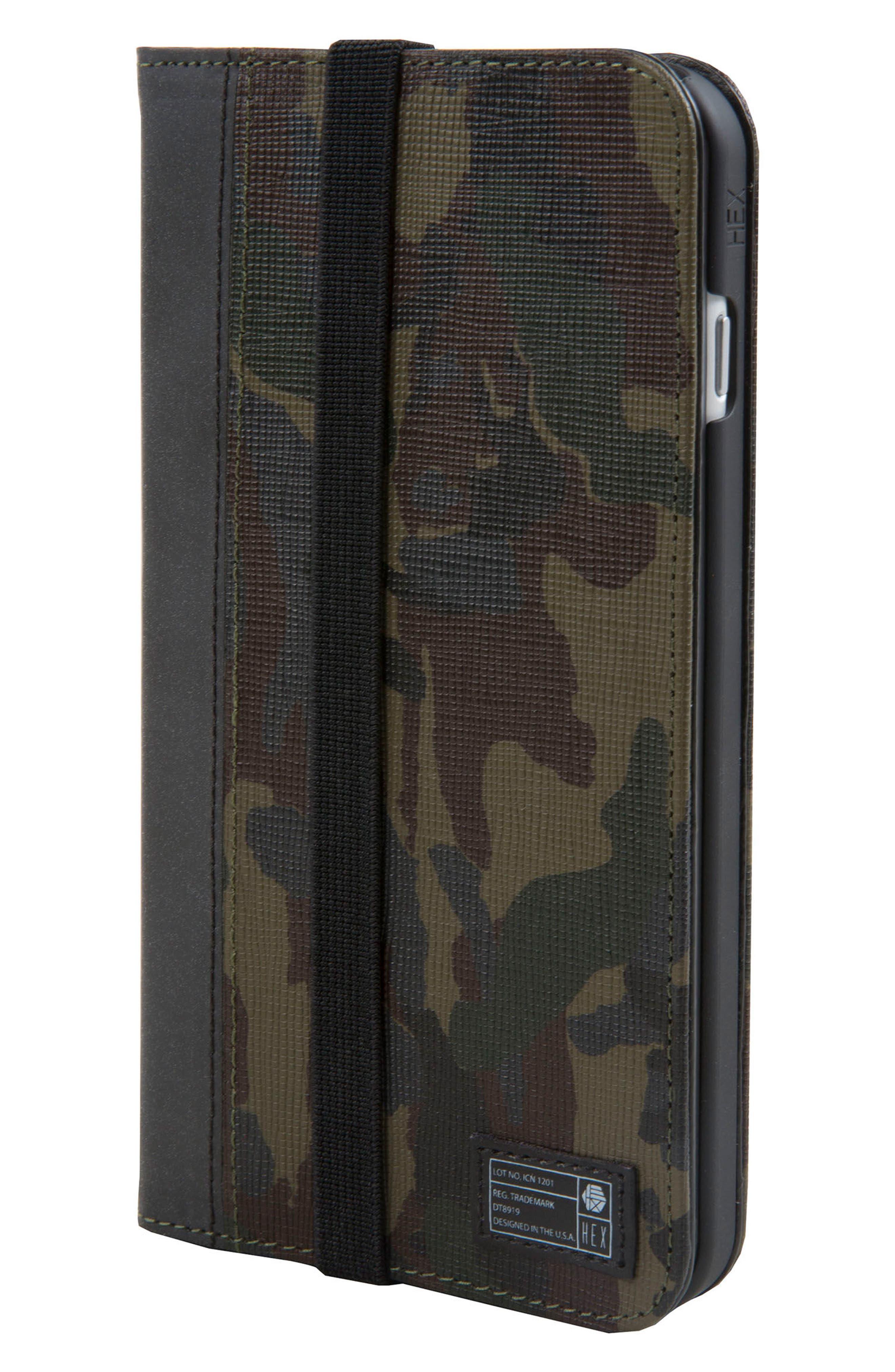 Icon iPhone 6/6s/7/8 Plus Wallet Case,                         Main,                         color, Camo/ Reflective