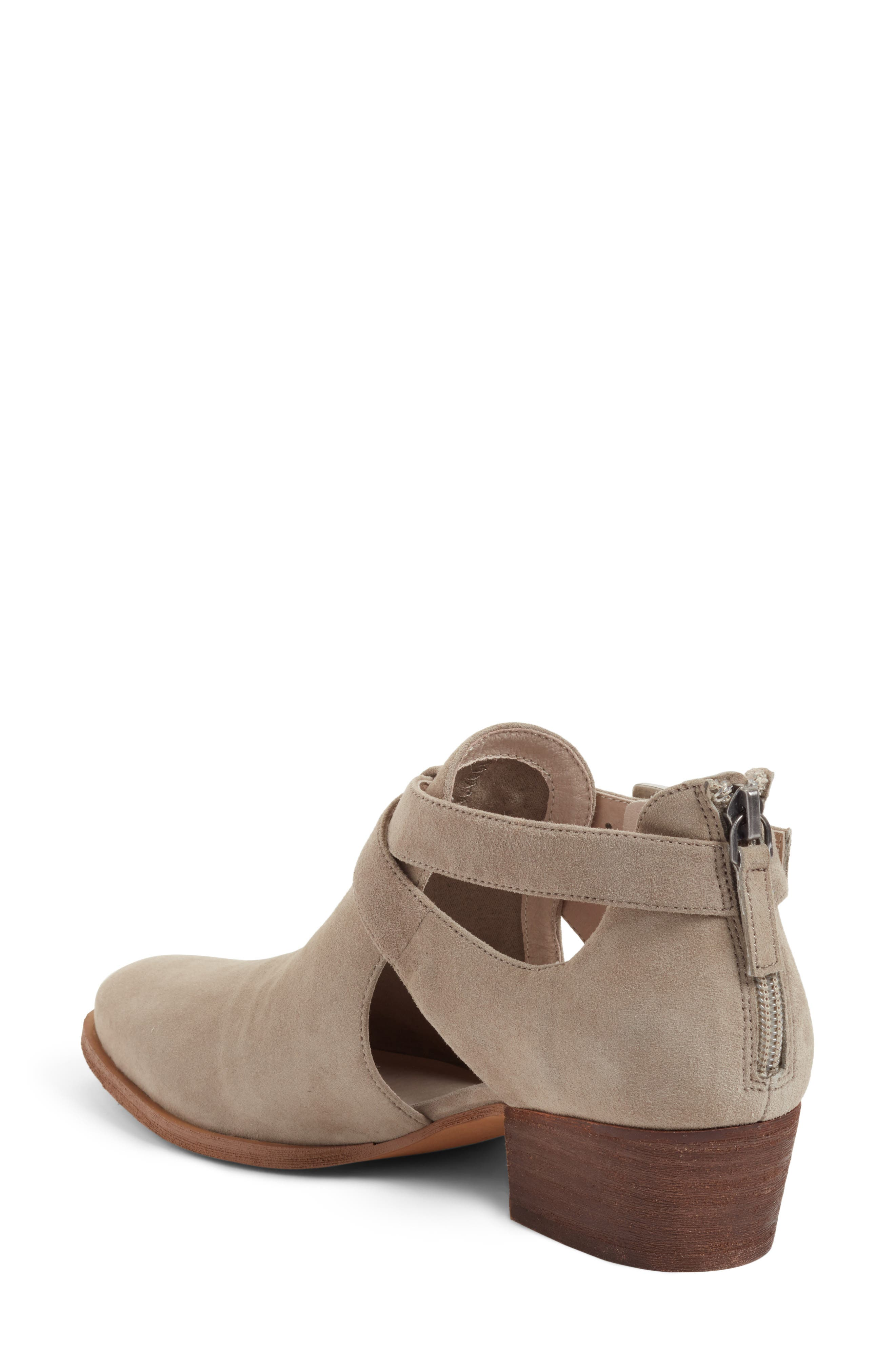 Tina Bootie,                             Alternate thumbnail 2, color,                             Stone Suede
