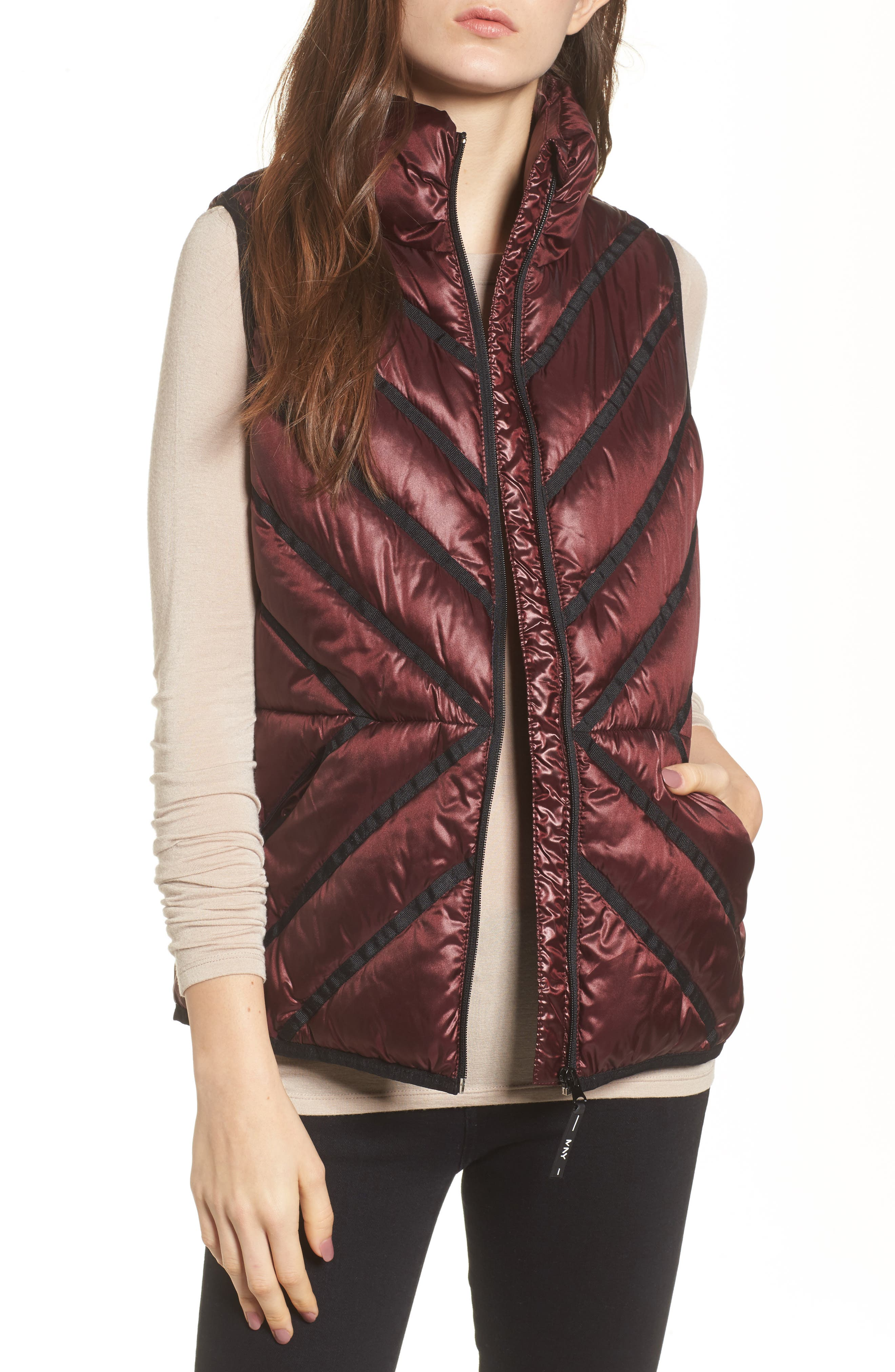 Alternate Image 1 Selected - Marc New York Chevron Quilt Puffer Vest