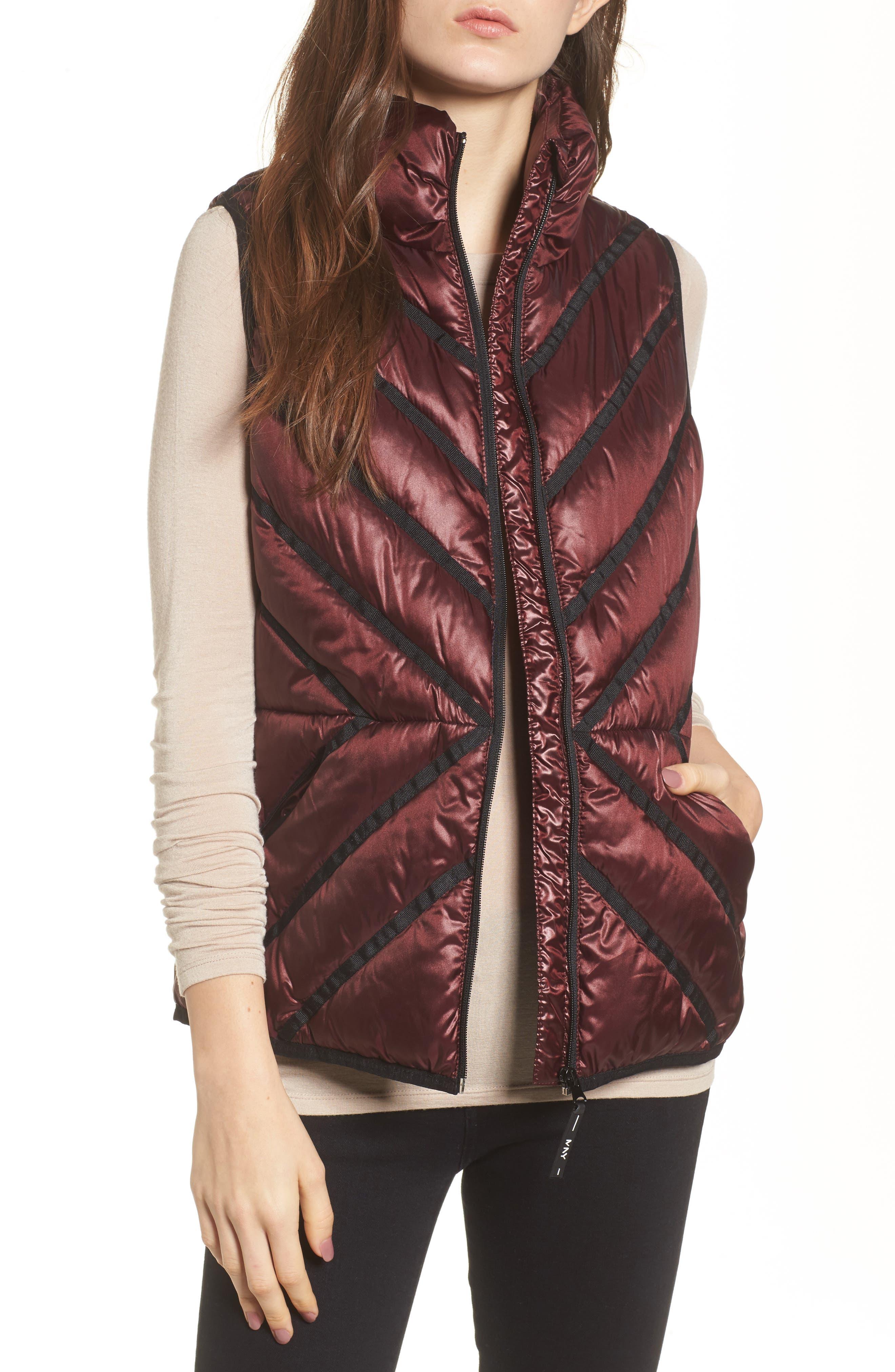 Main Image - Marc New York Chevron Quilt Puffer Vest