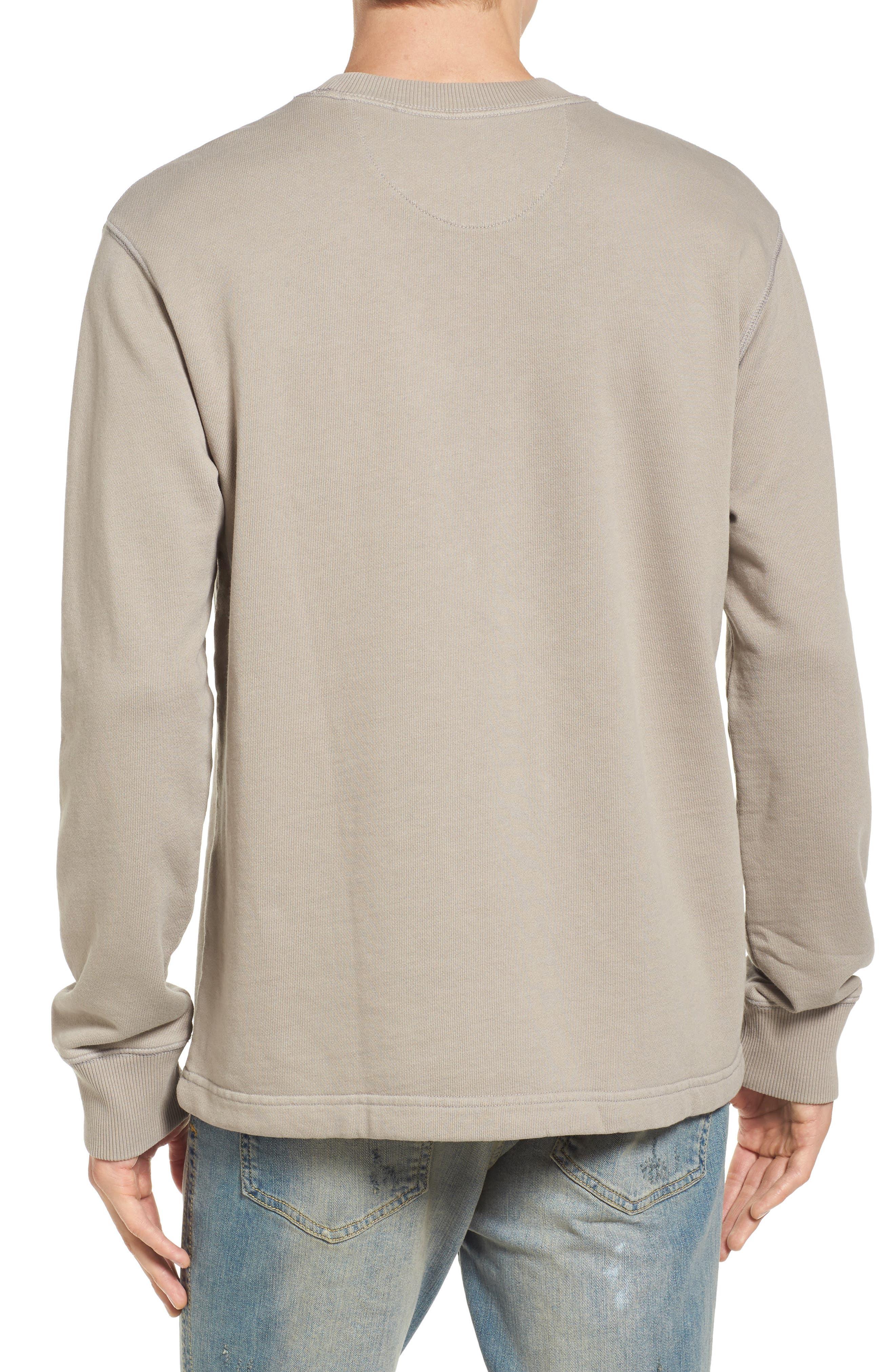 Drawcord Hem Sweatshirt,                             Alternate thumbnail 2, color,                             Tan Aluminum