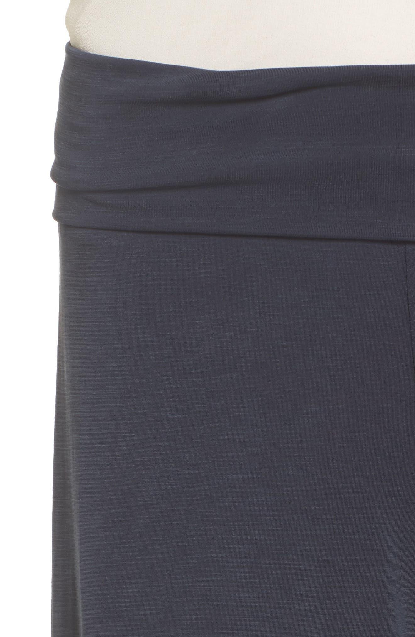 Seasonless Wide Leg Pants,                             Alternate thumbnail 4, color,                             Washed Midnight