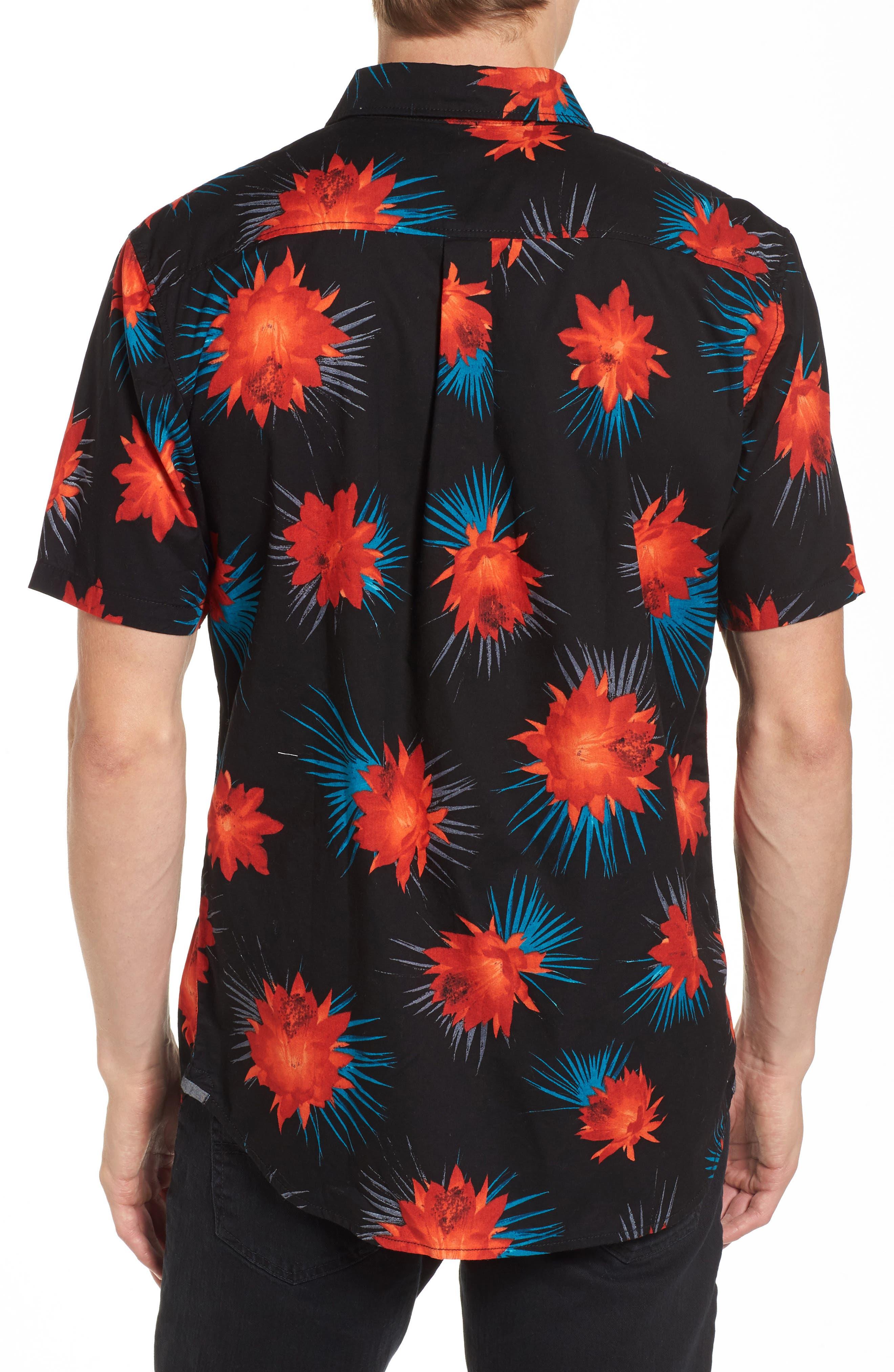 Cultivar Woven Shirt,                             Alternate thumbnail 2, color,                             Cactus Floral
