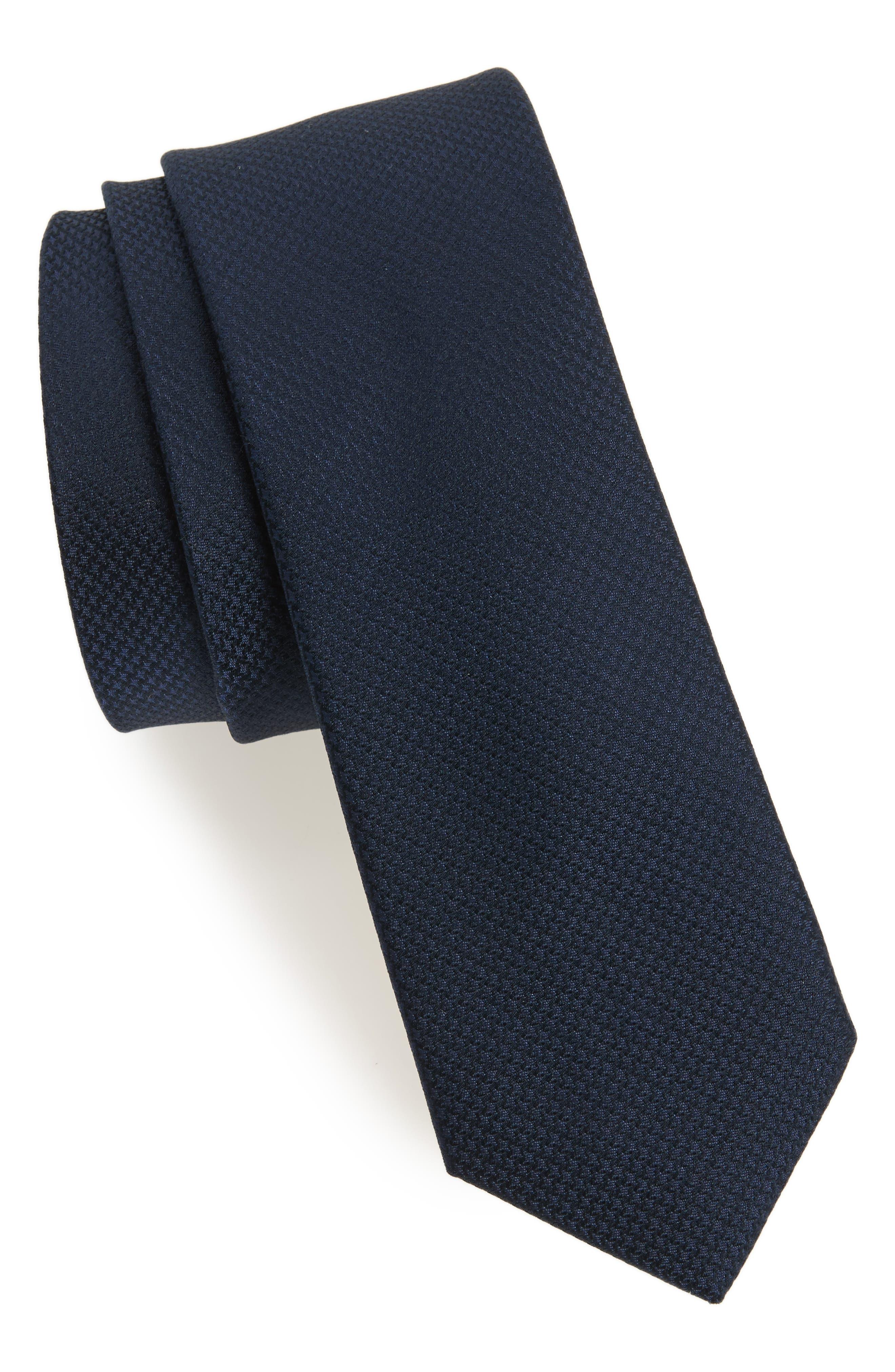 Midnight Silk Tie,                         Main,                         color, Navy