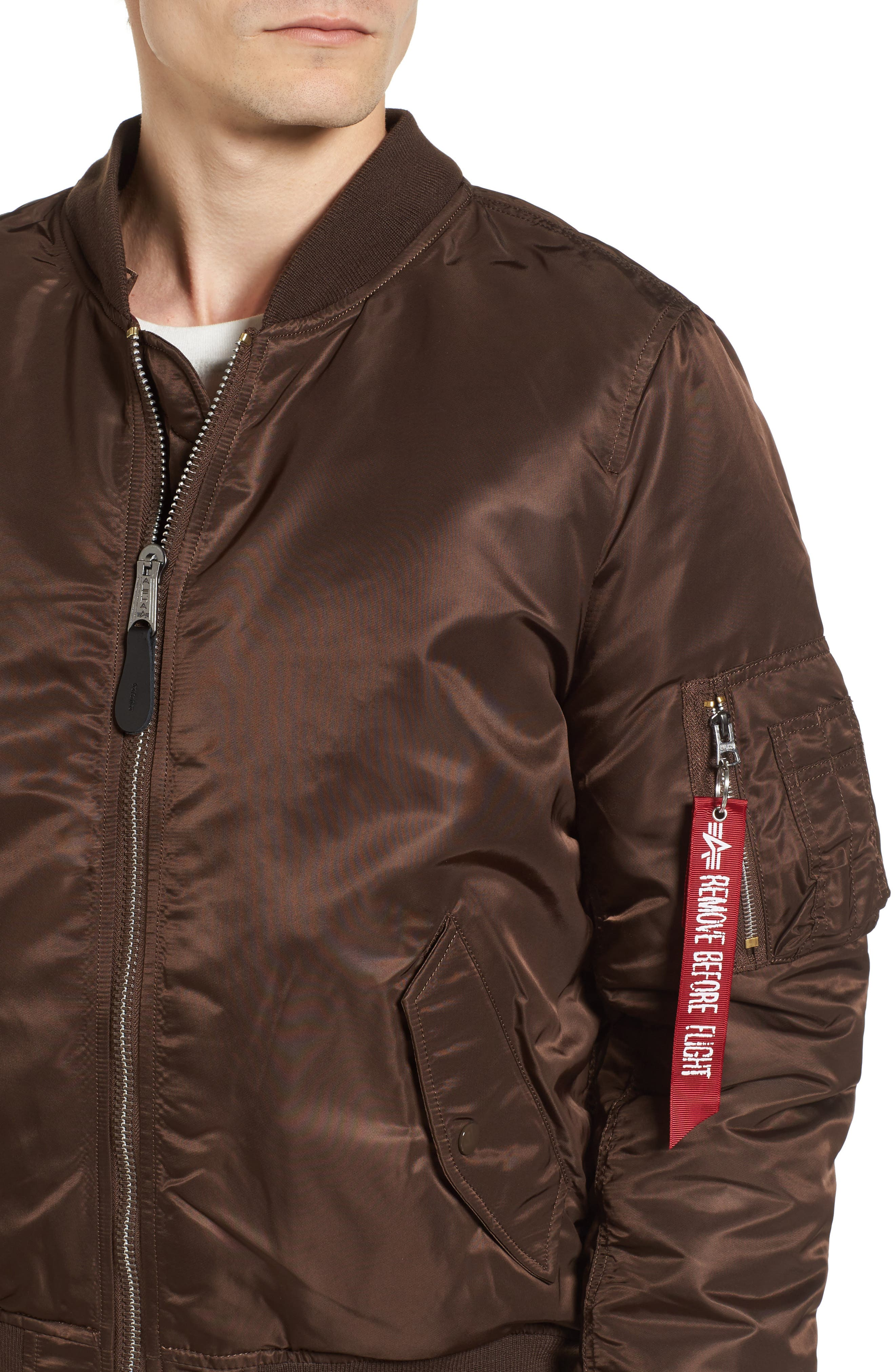 Alternate Image 4  - Alpha Industries MA-1 Natus Hooded Bomber Jacket