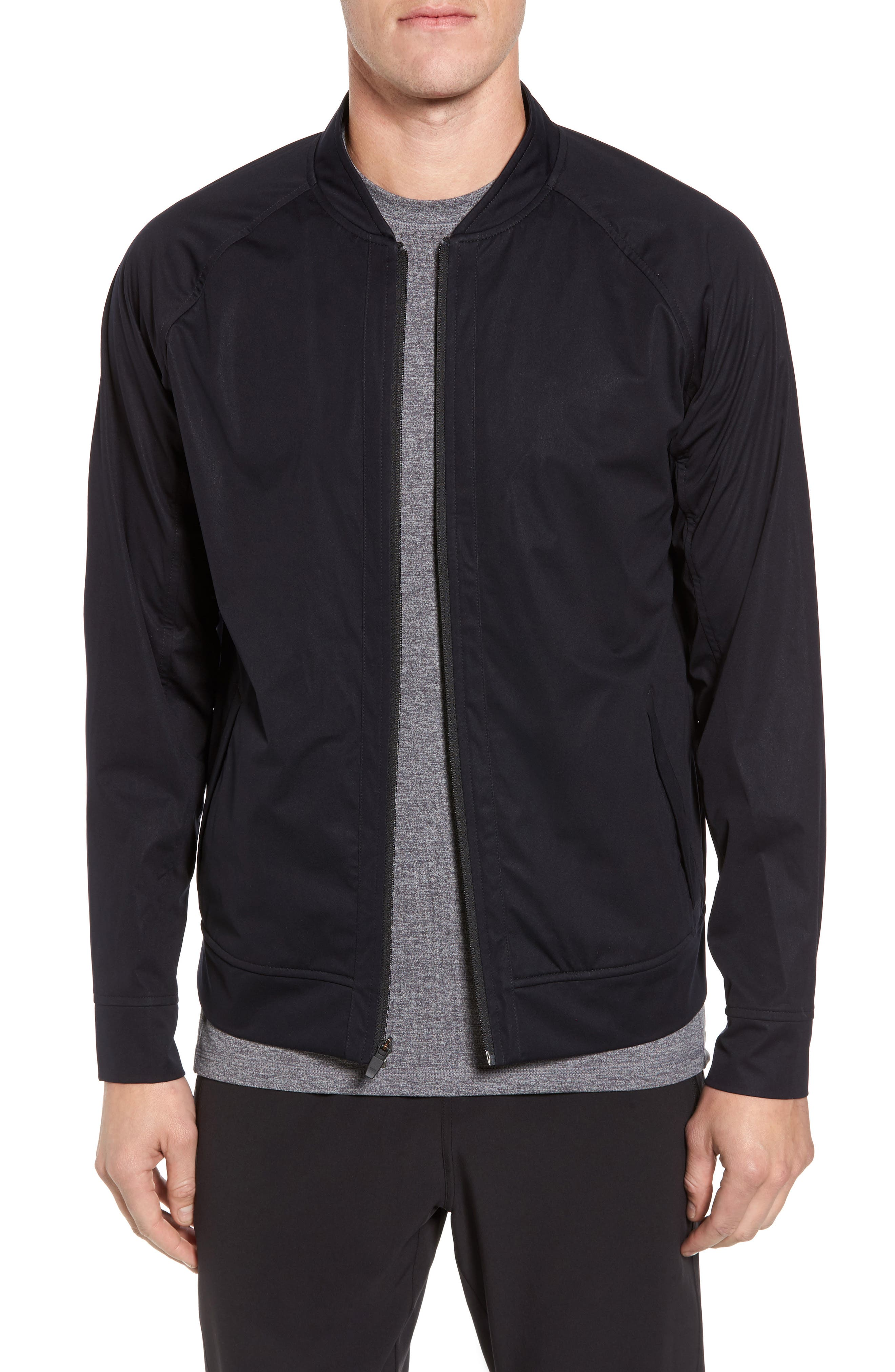 Softshell Bomber Jacket,                             Main thumbnail 1, color,                             Black