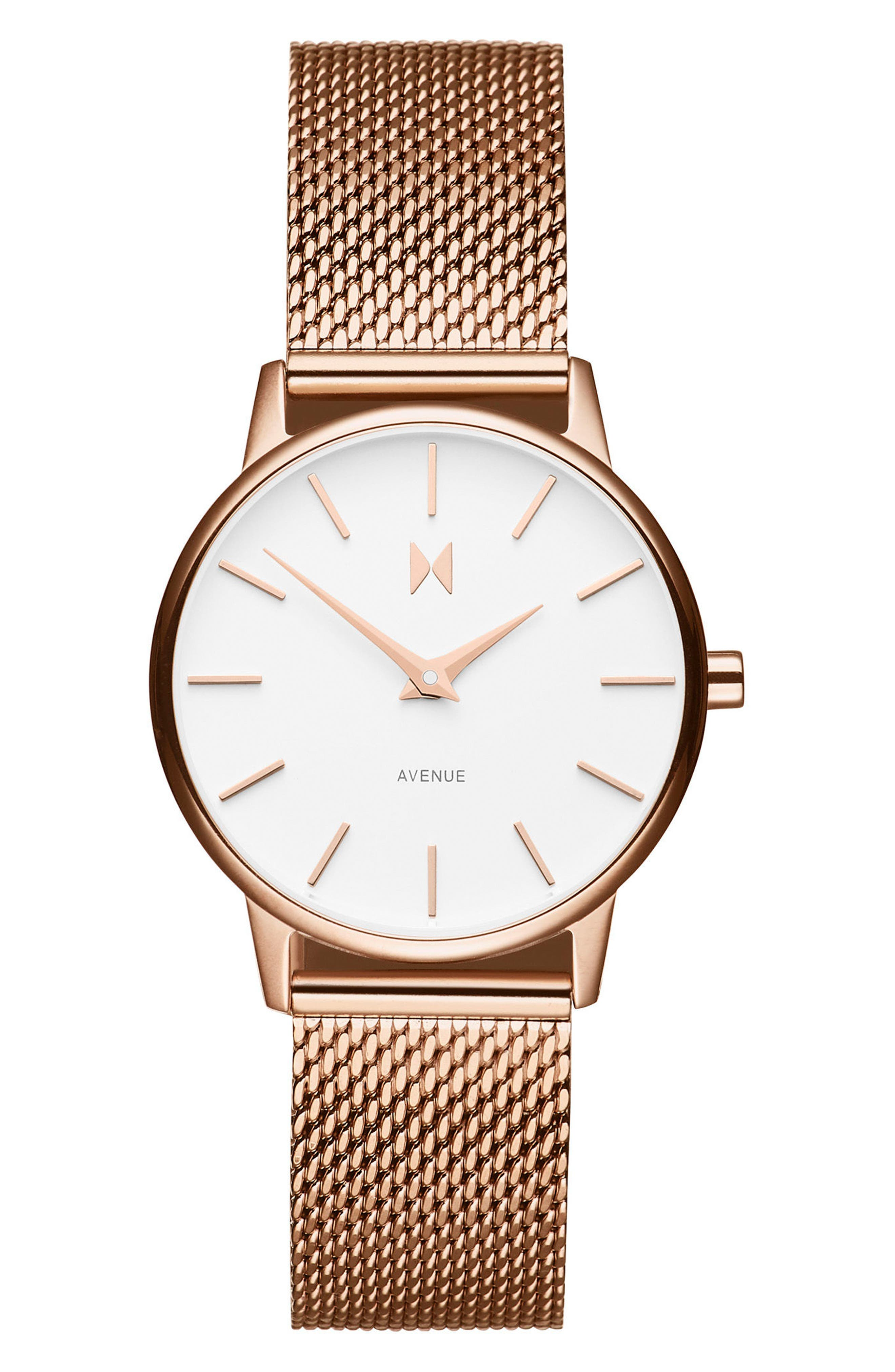 MVMT Avenue Lexington Mesh Strap Watch, 28mm