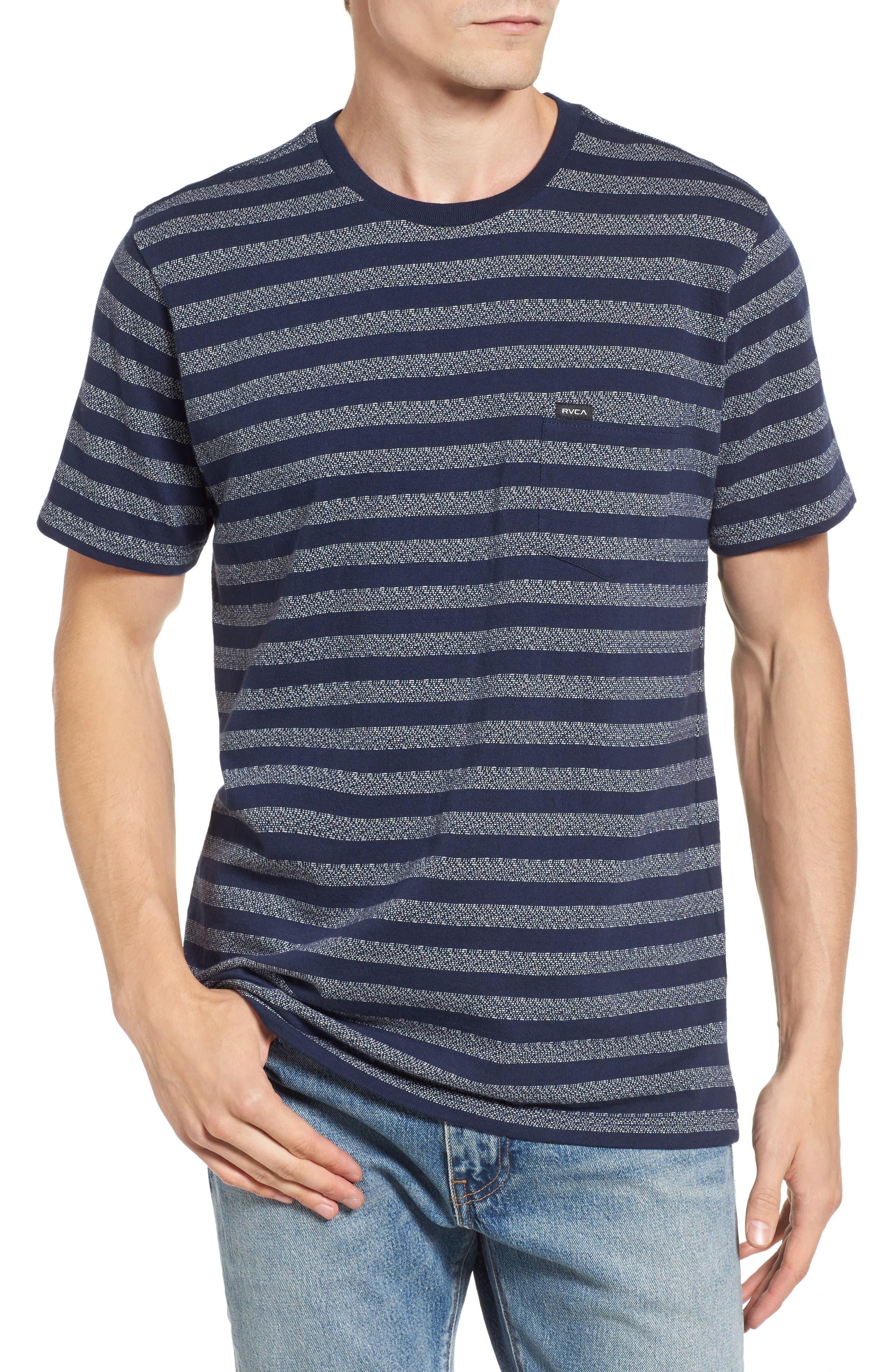 What's Shakin' Stripe T-Shirt,                         Main,                         color, Federal Blue