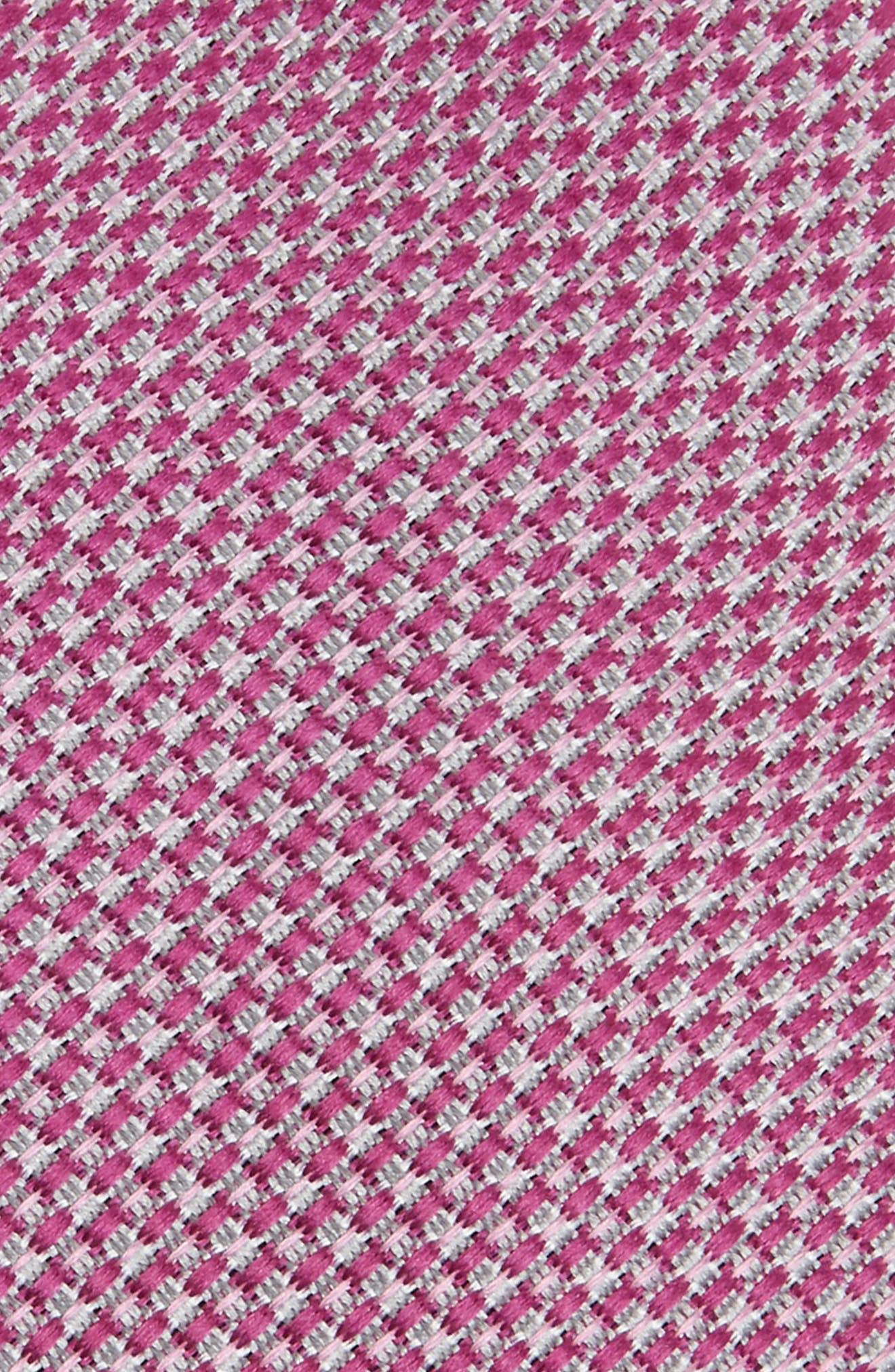 Knitex Solid Silk Tie,                             Alternate thumbnail 2, color,                             Pink