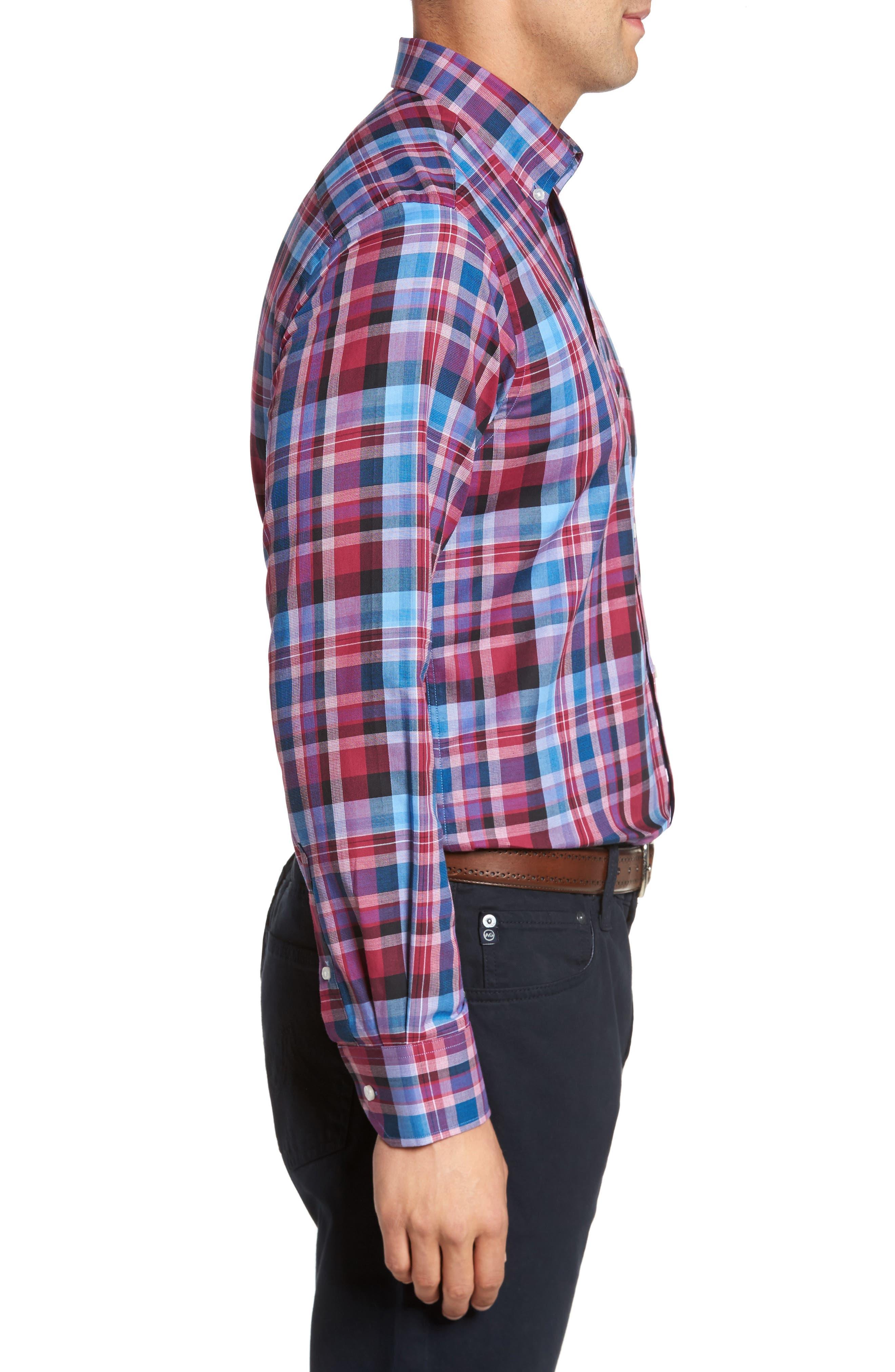 Alternate Image 3  - TailorByrd Colfax Plaid Sport Shirt