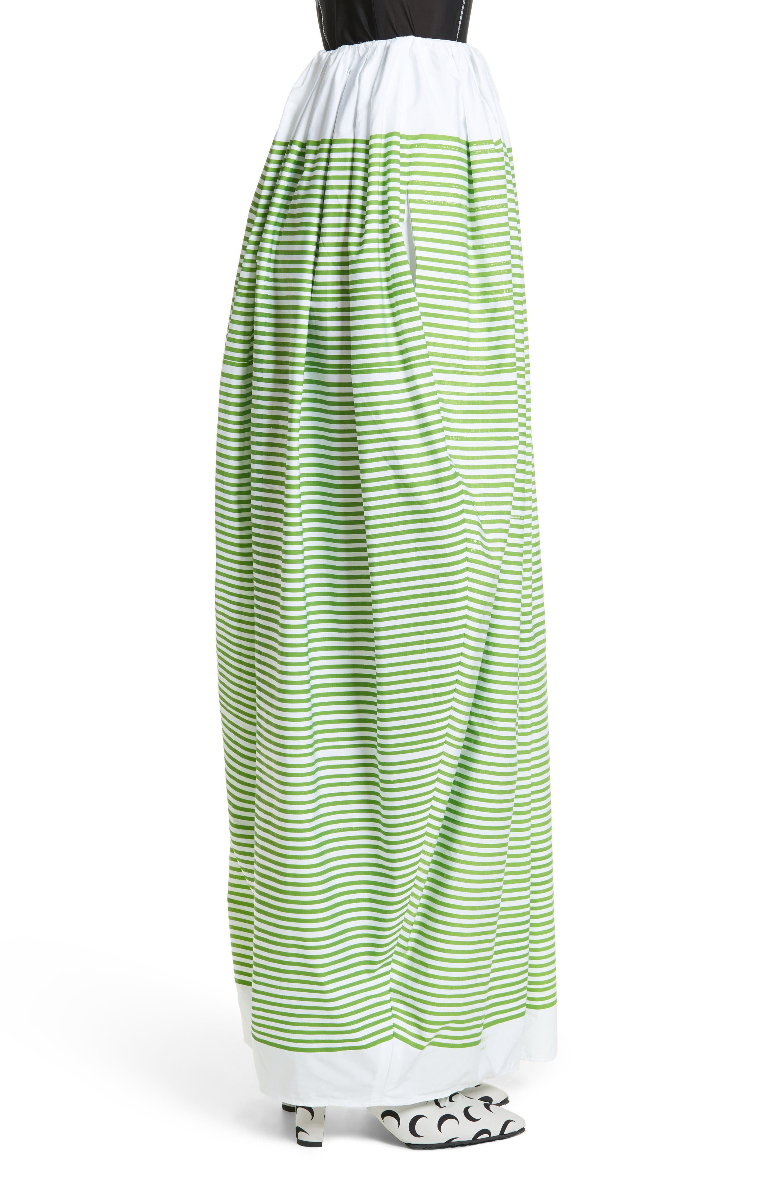 Stripe Ball Skirt,                             Alternate thumbnail 3, color,                             Green Striped