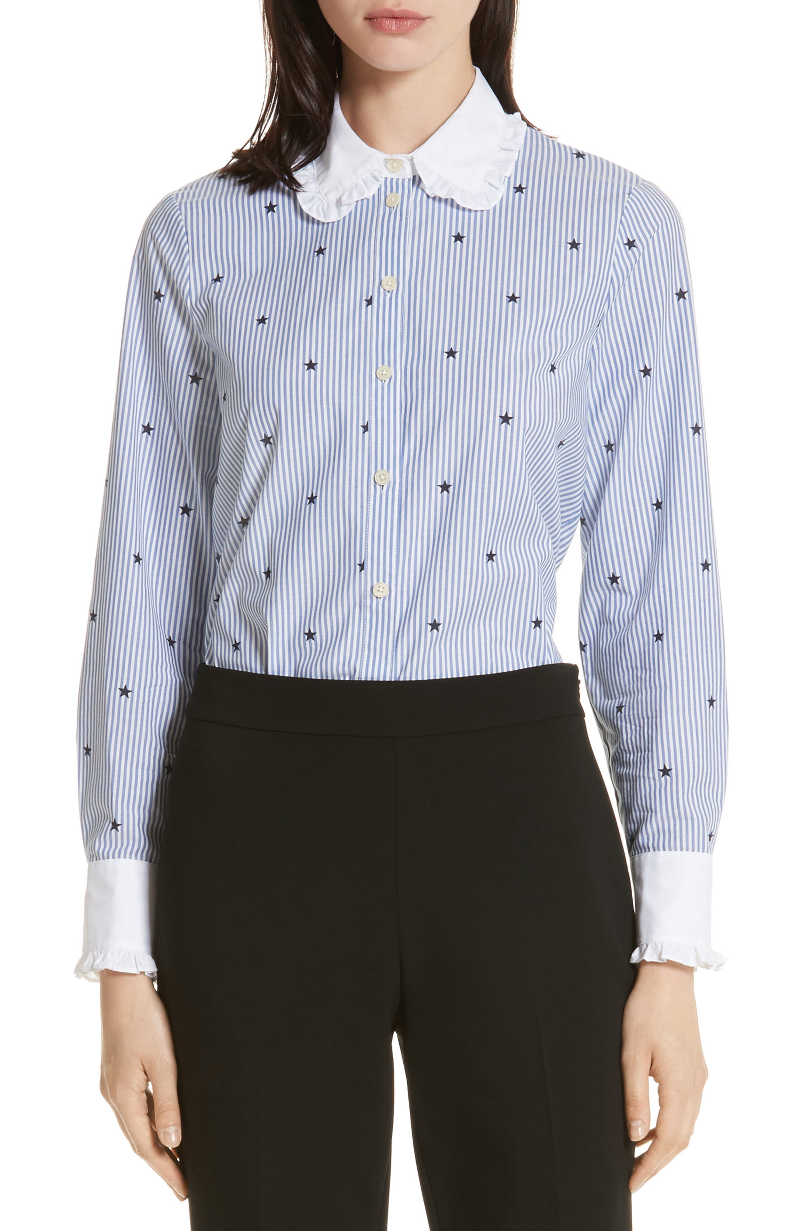 kate spade new york twinkle stripe poplin shirt