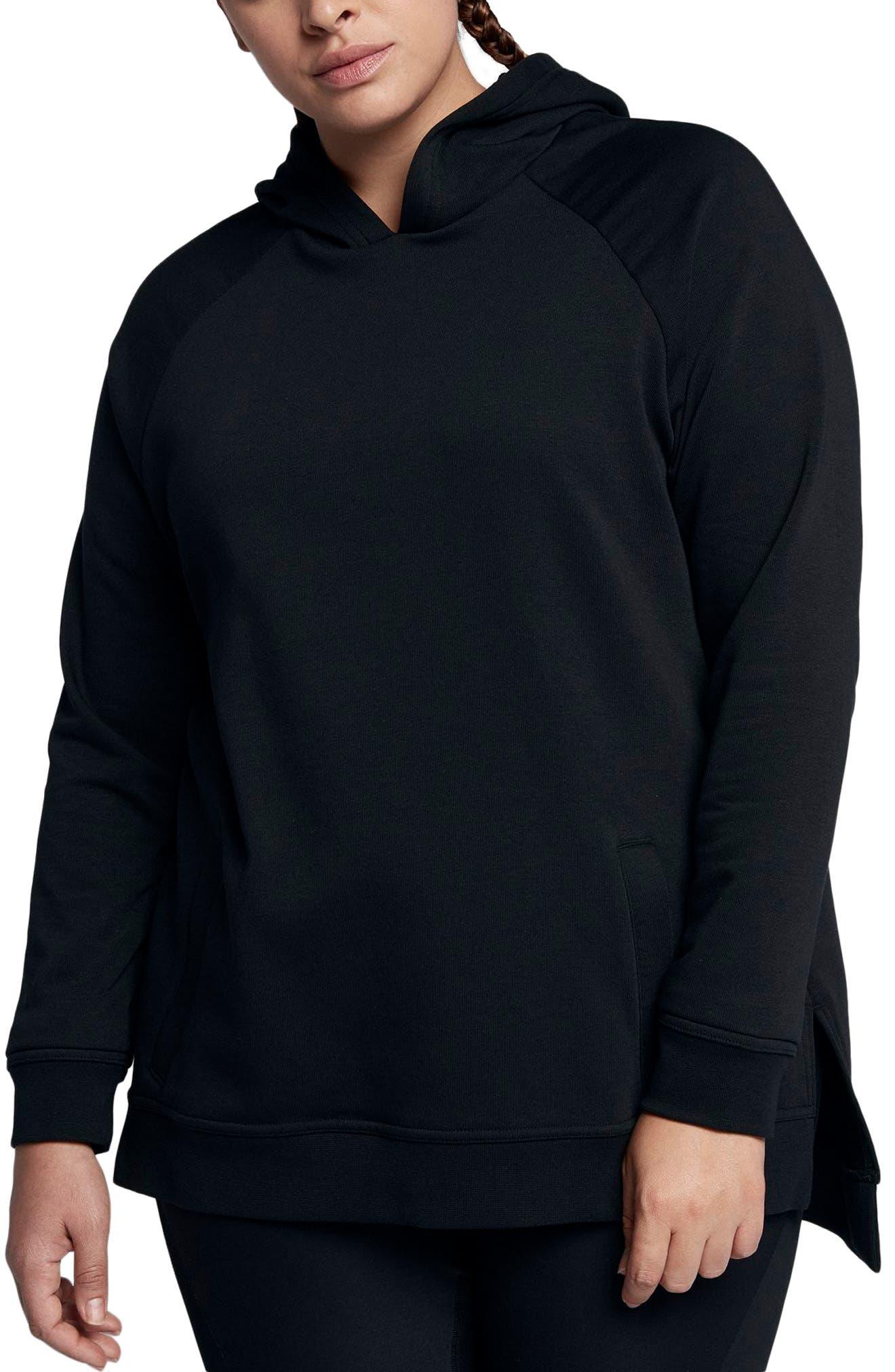 Dry Training Hoodie,                         Main,                         color, Black/ White