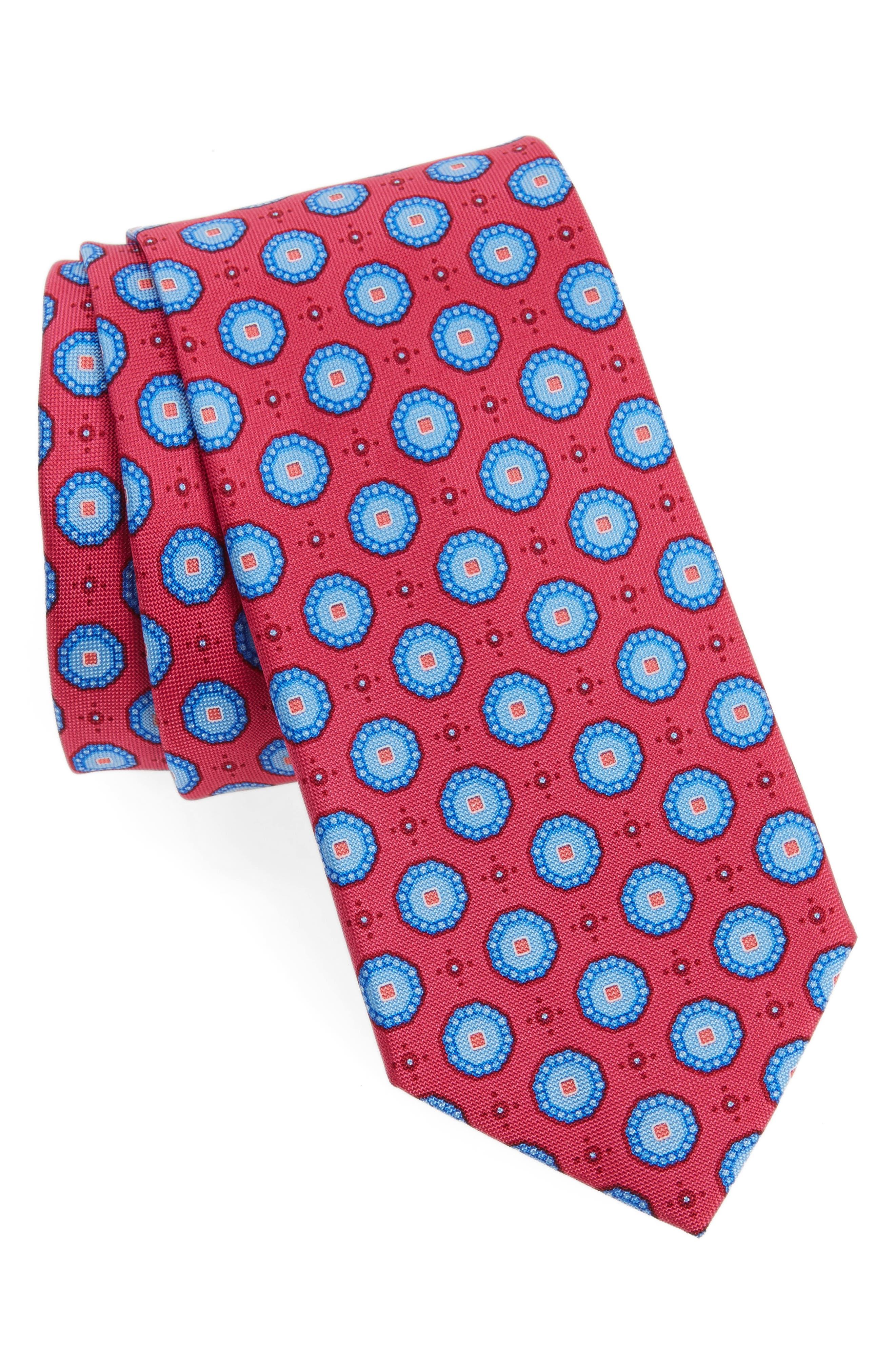 Main Image - Nordstrom Men's Shop Textured Pines Geometric Silk Tie