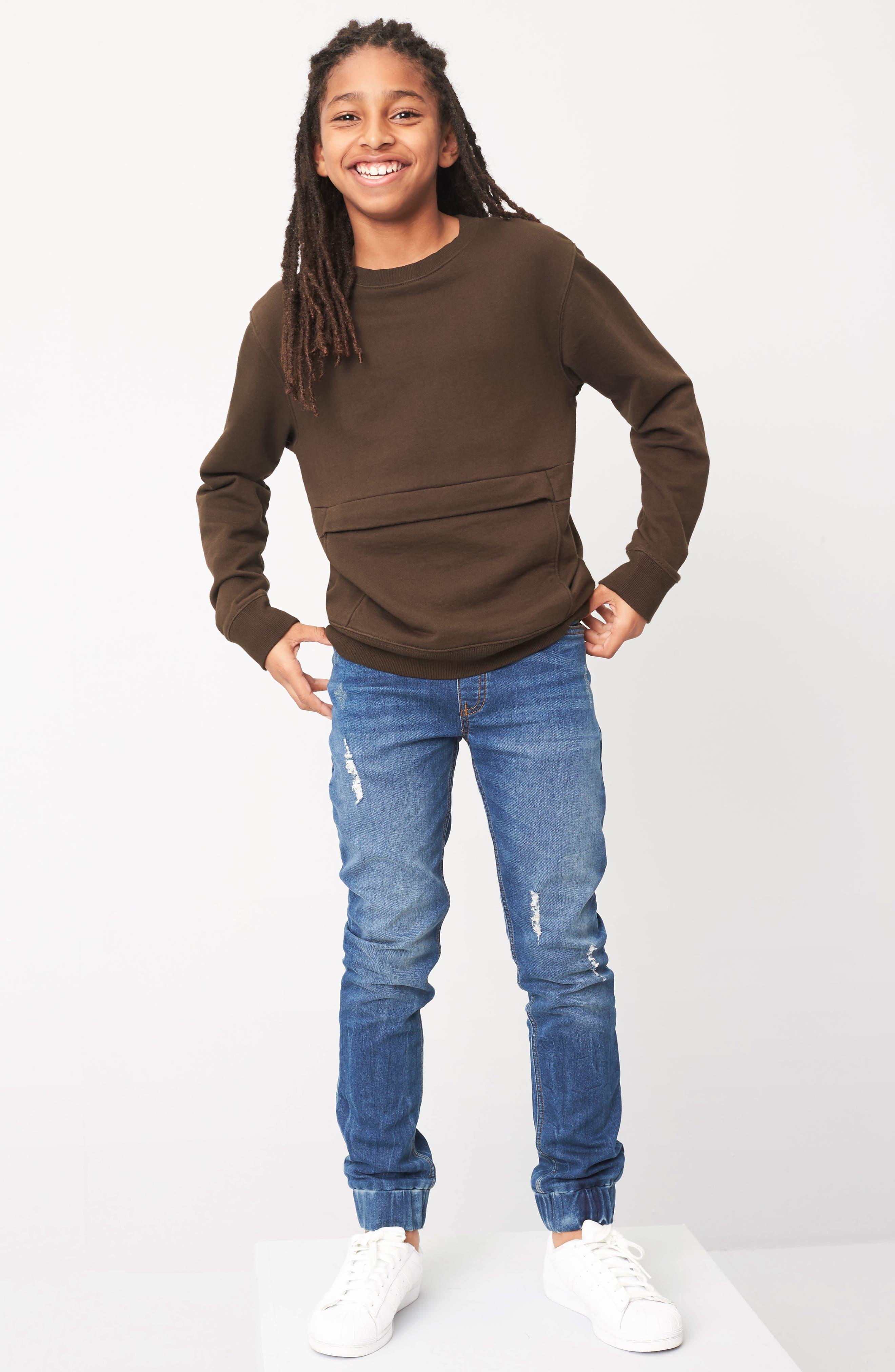 Alternate Image 3  - Treasure & Bond Pouch Pocket Sweatshirt (Big Boys)