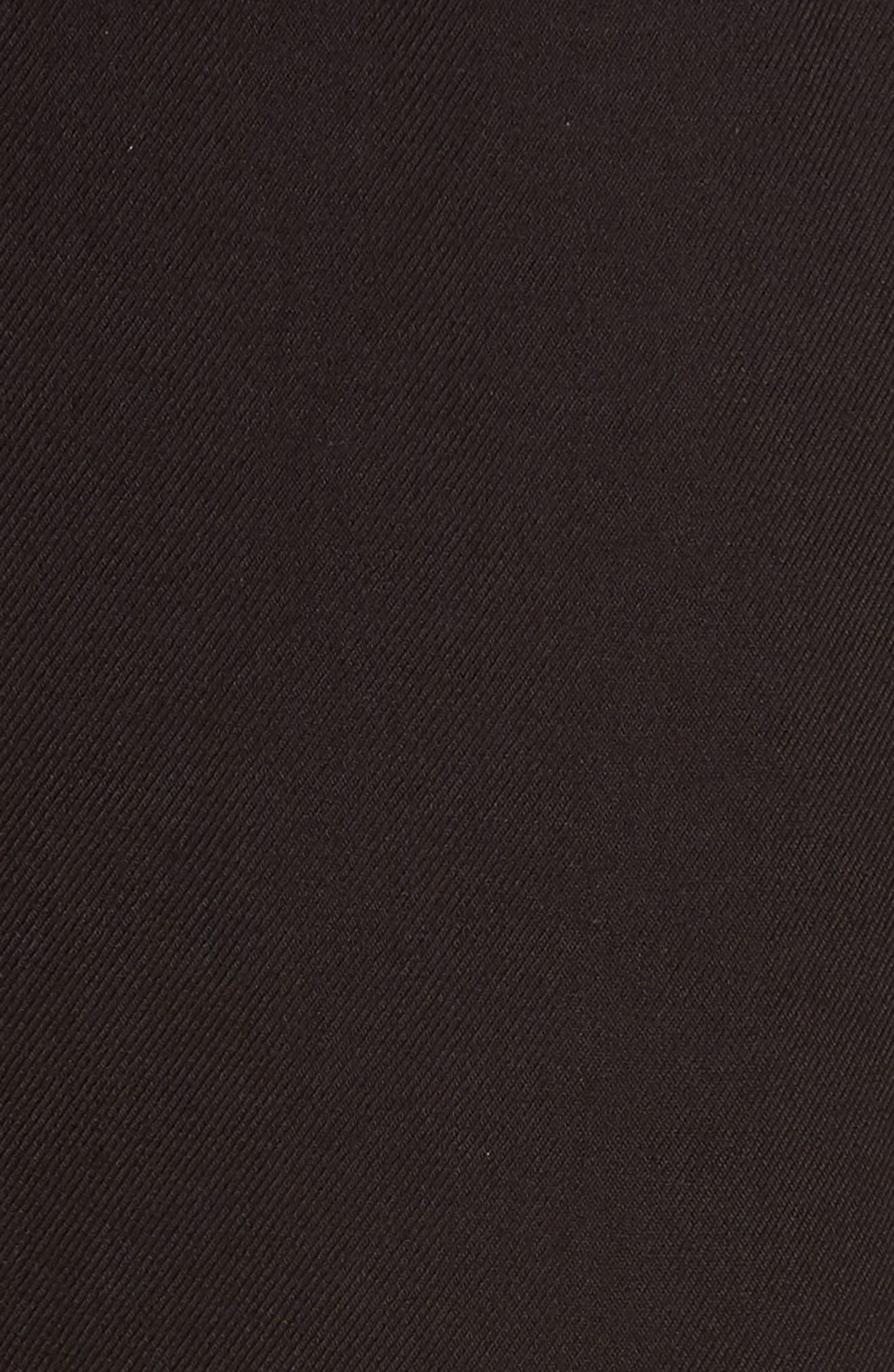 Piped Tulip Hem Pants,                             Alternate thumbnail 5, color,                             Black
