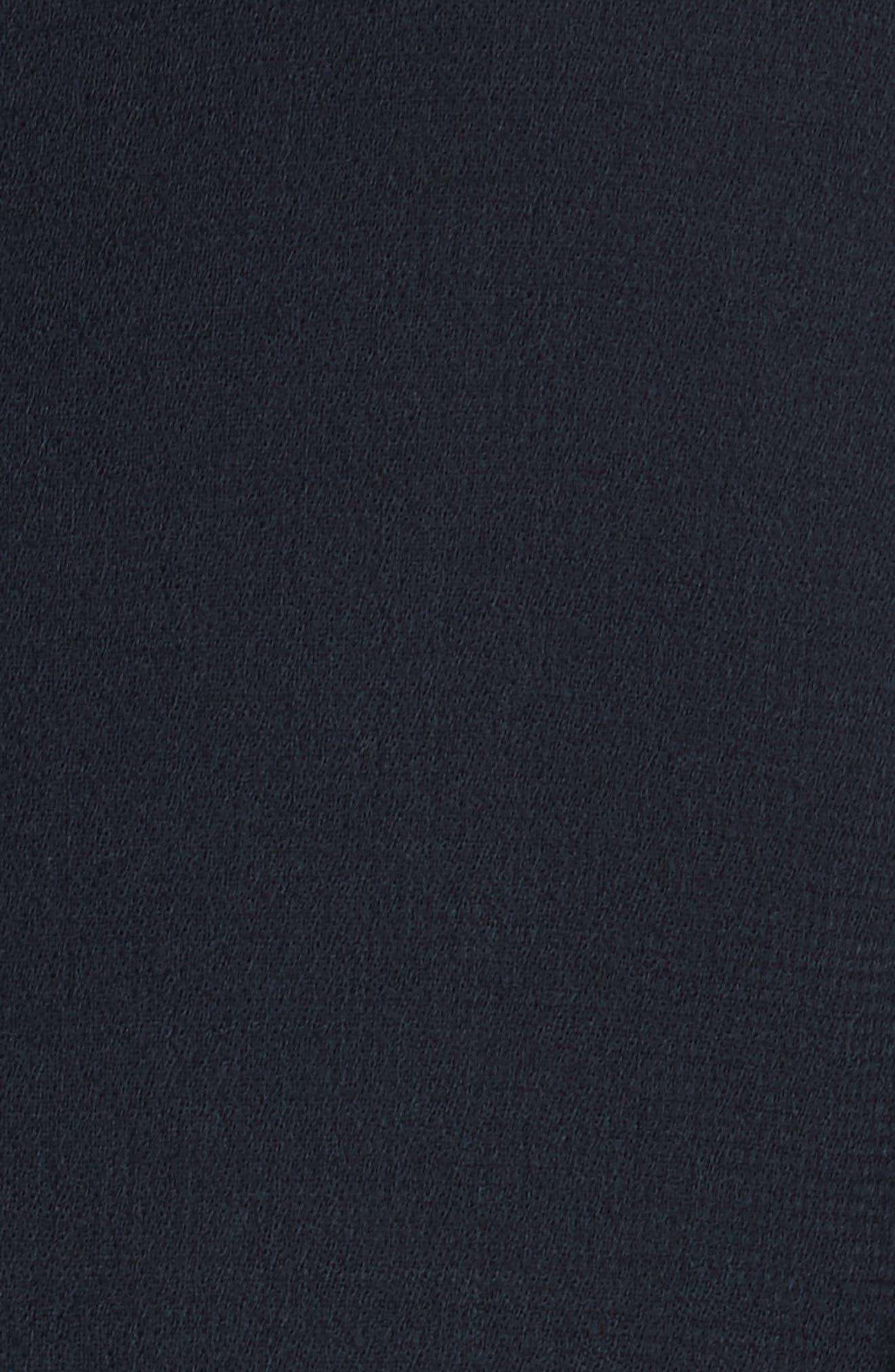 Alternate Image 5  - Oscar de la Renta Cutout Bell Sleeve Stretch Wool Crepe Shift Dress