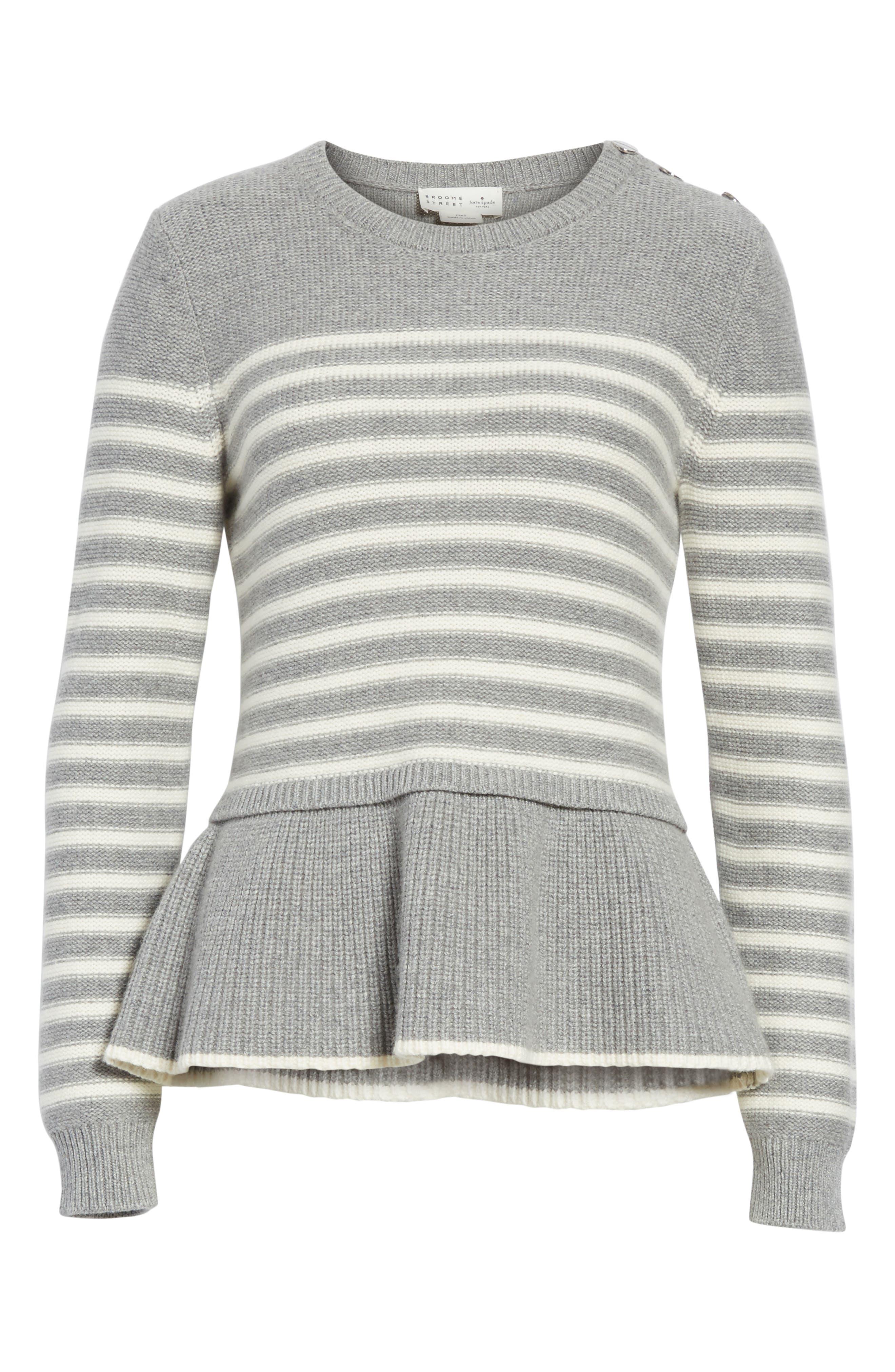 Alternate Image 6  - kate spade new york stripe peplum sweater