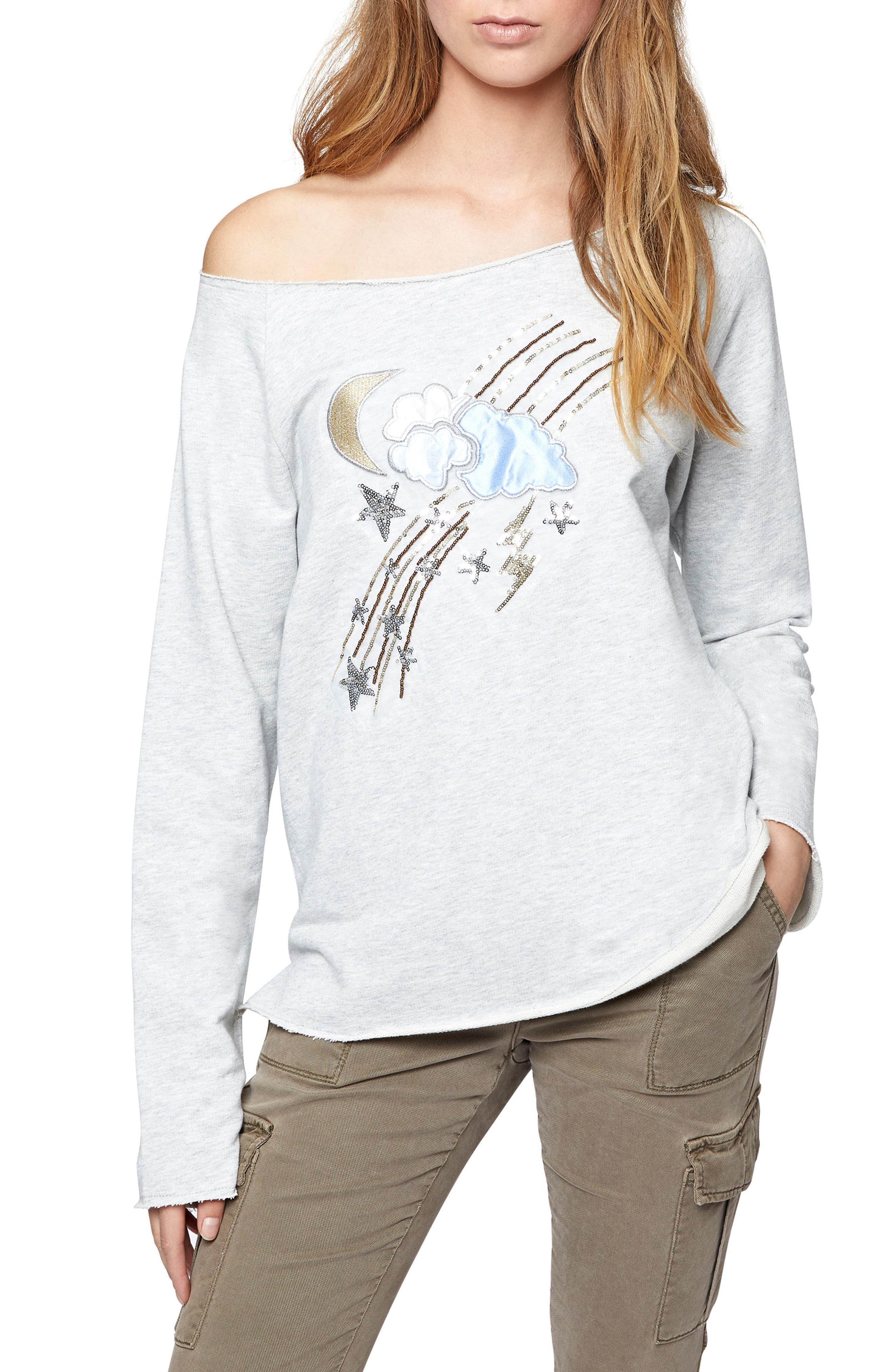 Galaxy Sequin Sweatshirt,                         Main,                         color, Heather Sterling