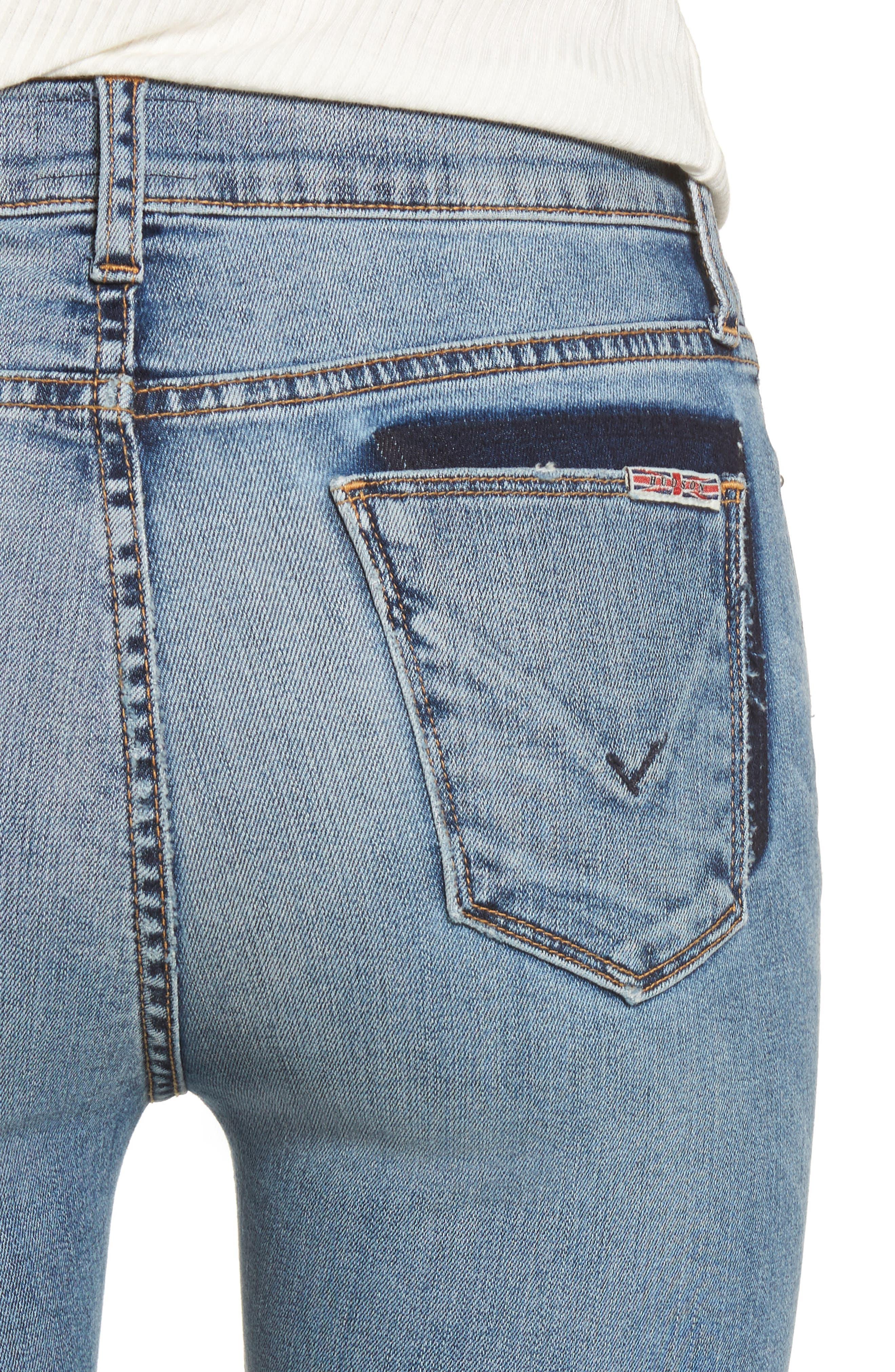 Alternate Image 4  - Hudson Jeans Barbara High Waist Ankle Skinny Jeans (Confection)