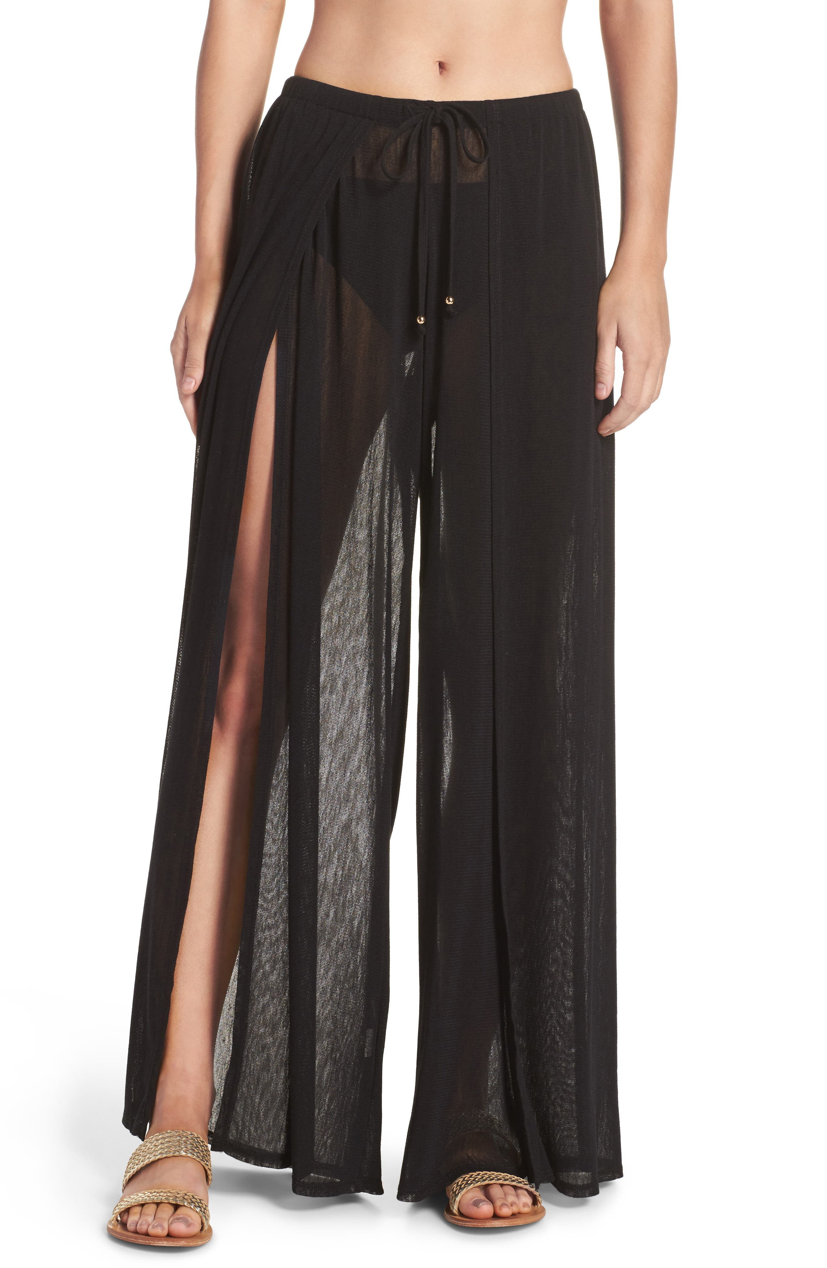 Robin Piccone Francesca Wide Leg Cover-Up Pants